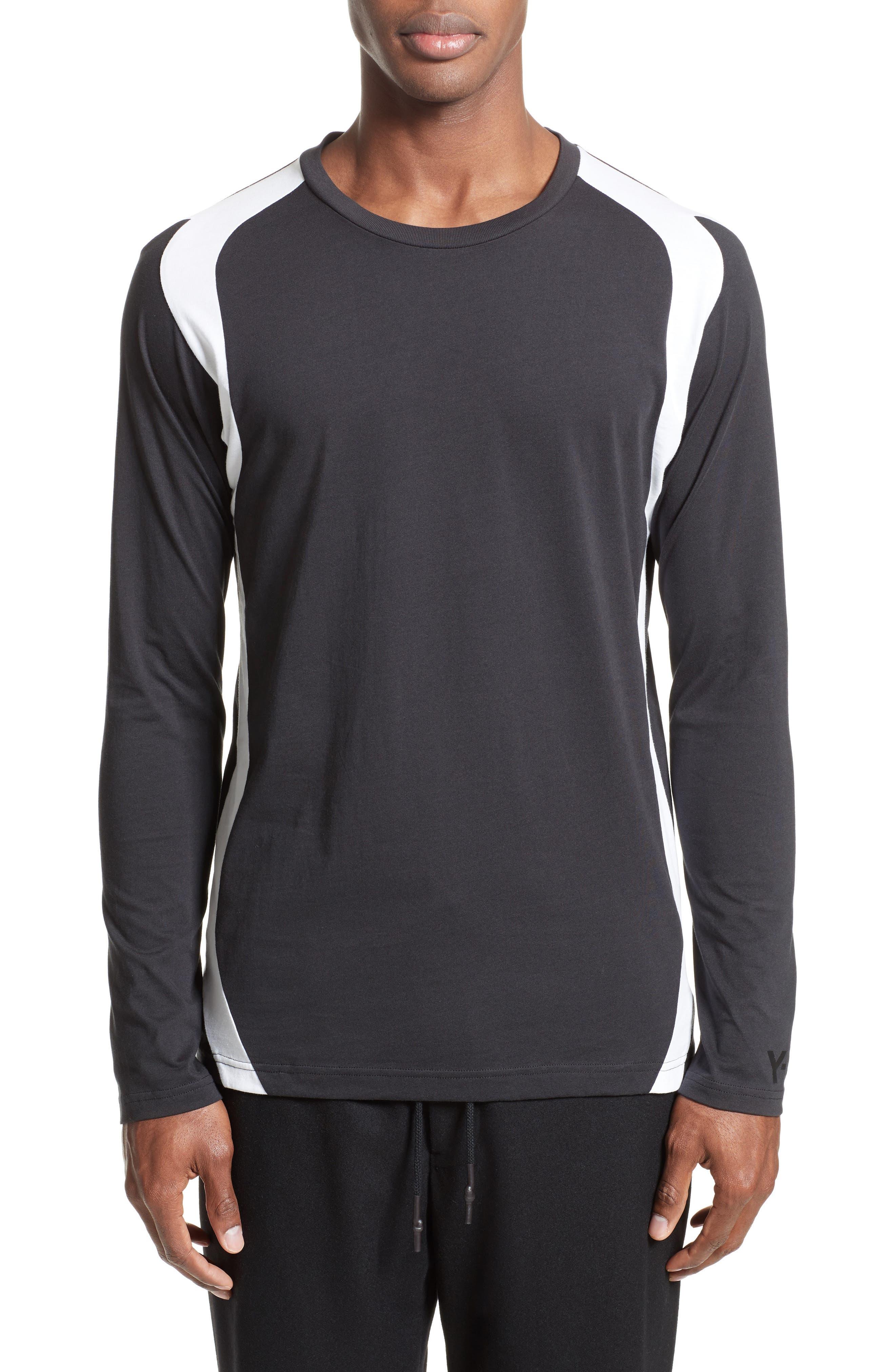 Stripe Long Sleeve T-Shirt,                             Main thumbnail 1, color,                             001
