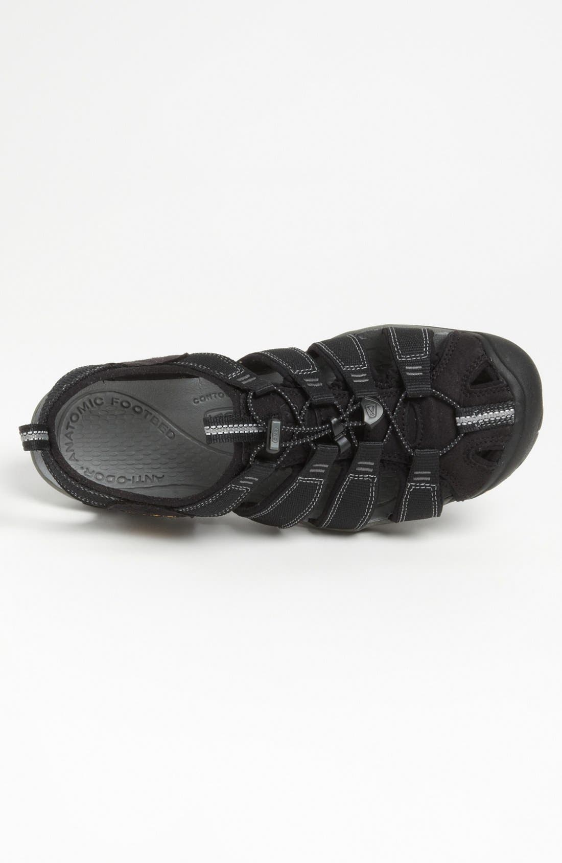 'Clearwater CNX' Sandal,                             Alternate thumbnail 4, color,                             BLACK/ GARGOYLE