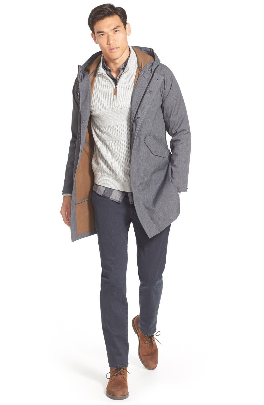 Texture Cotton & Cashmere Quarter Zip Sweater,                             Alternate thumbnail 10, color,                             050