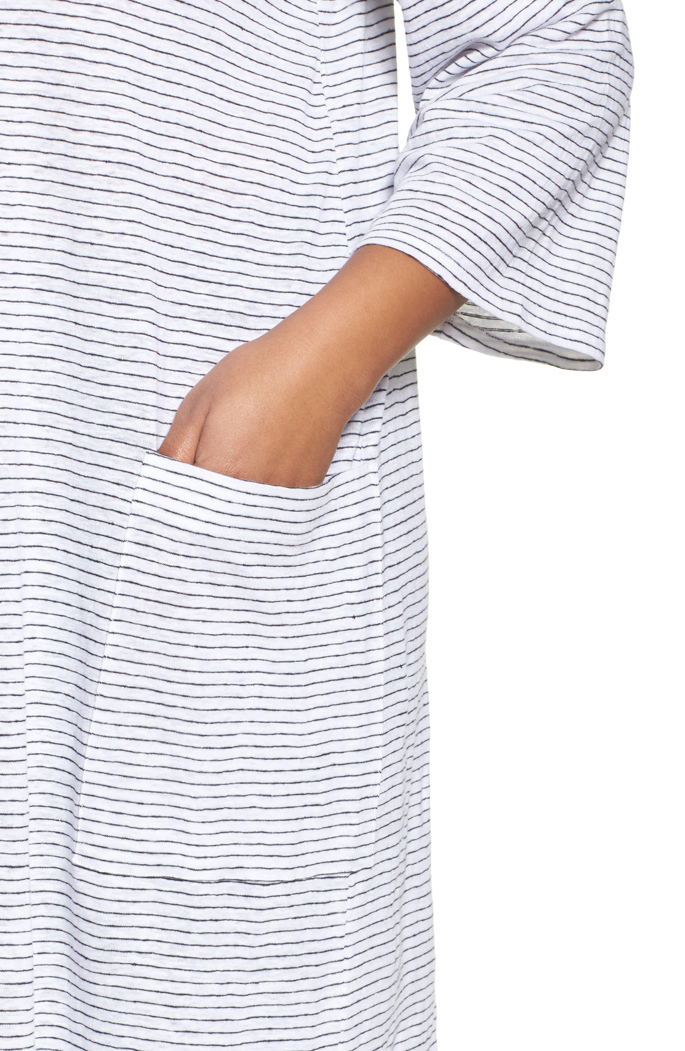 Organic Linen Shift Dress,                             Alternate thumbnail 4, color,                             120
