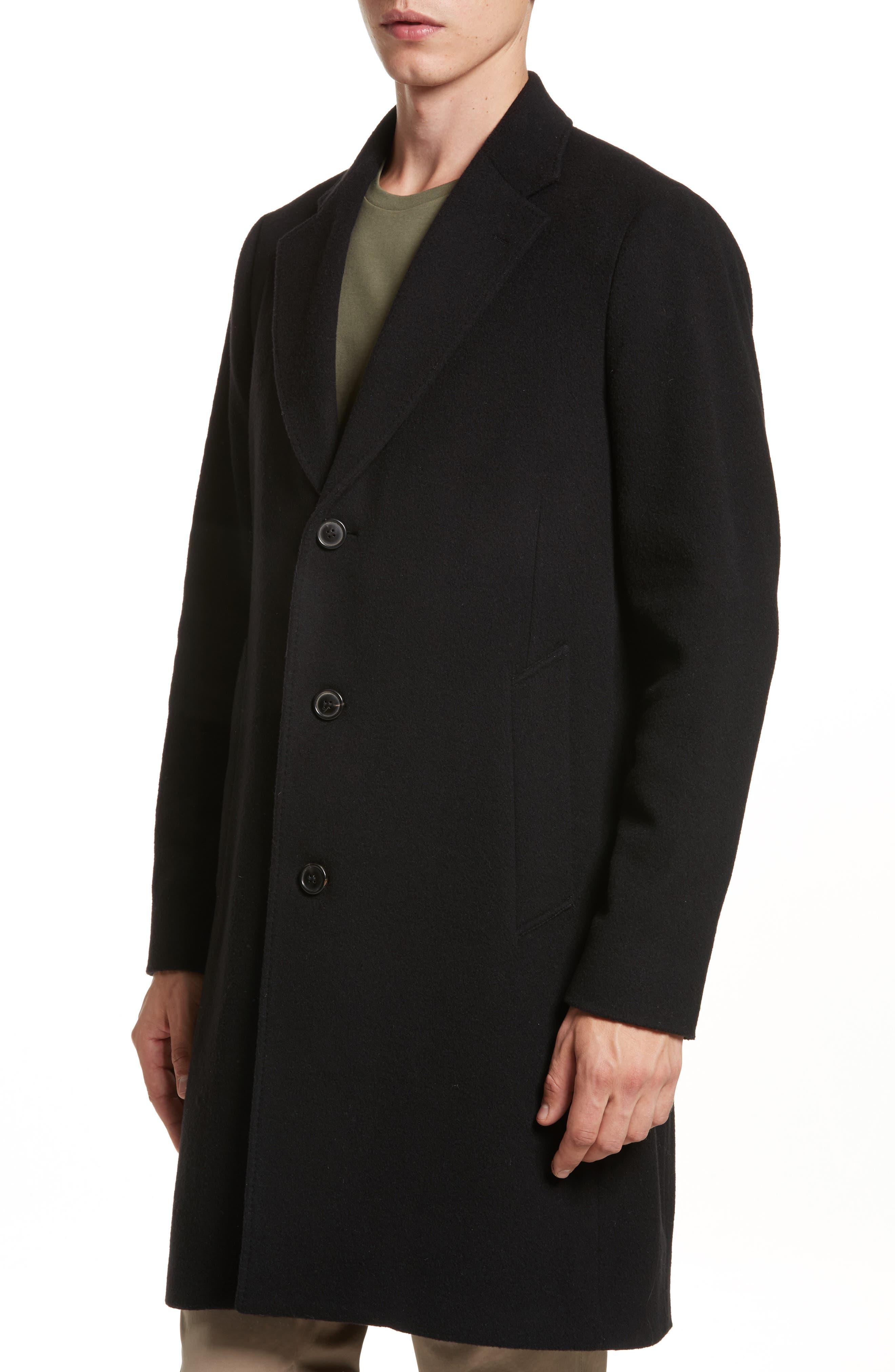 Wool & Cashmere Car Coat,                             Alternate thumbnail 4, color,                             001