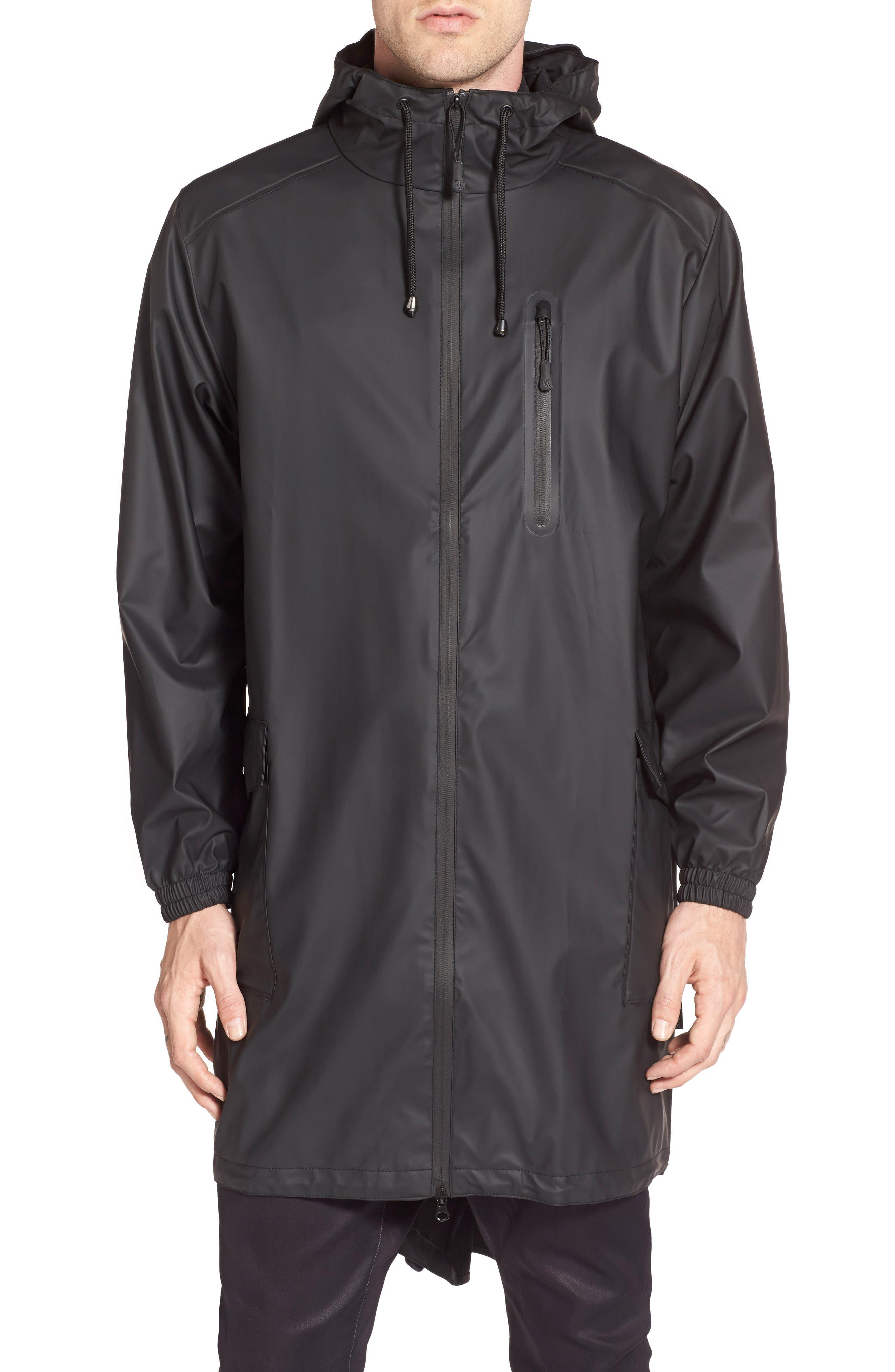 Waterproof Parka Coat,                             Main thumbnail 1, color,                             BLACK