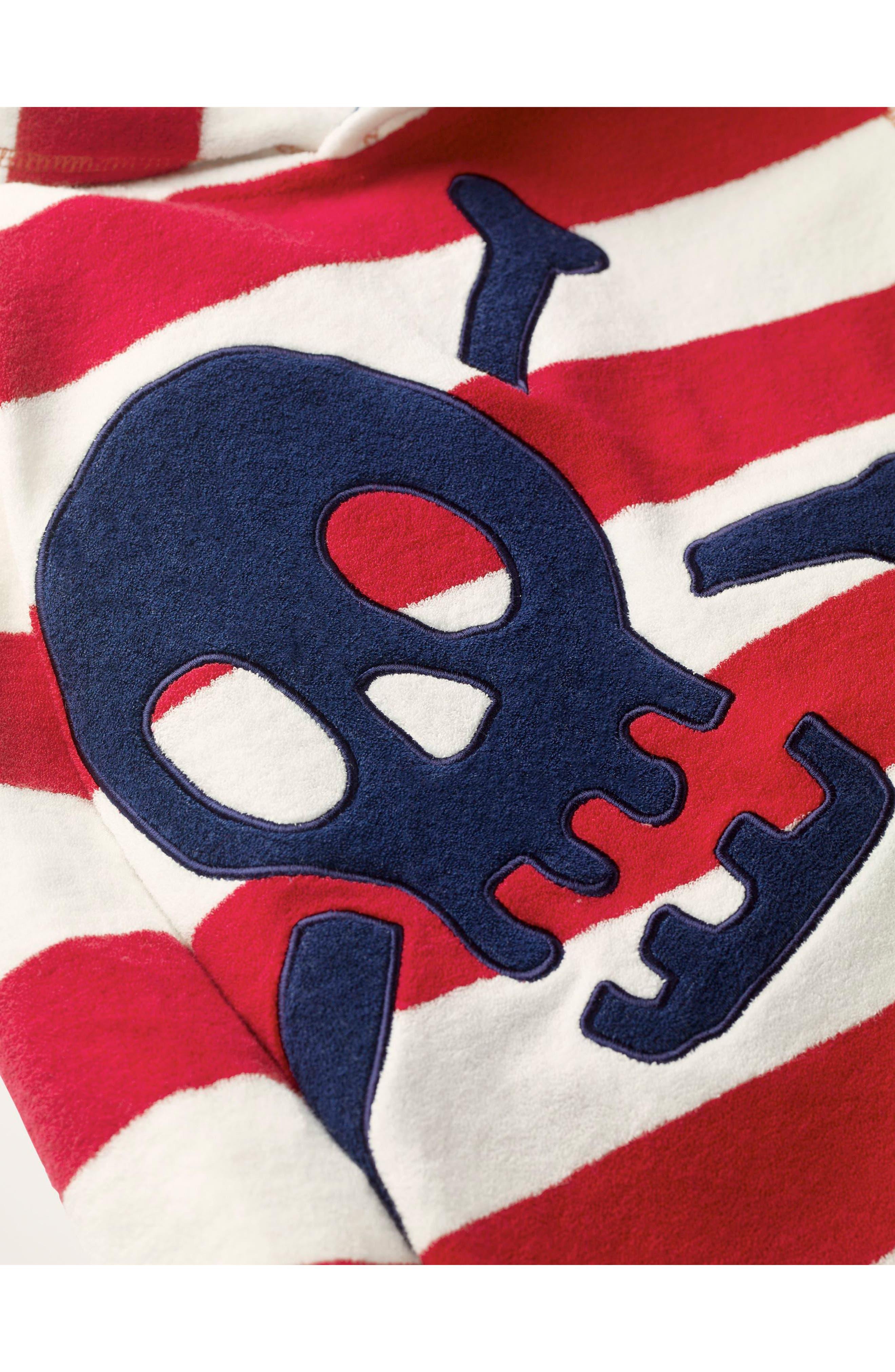 Skull & Stripes Hooded Cover-Up,                             Alternate thumbnail 2, color,                             614