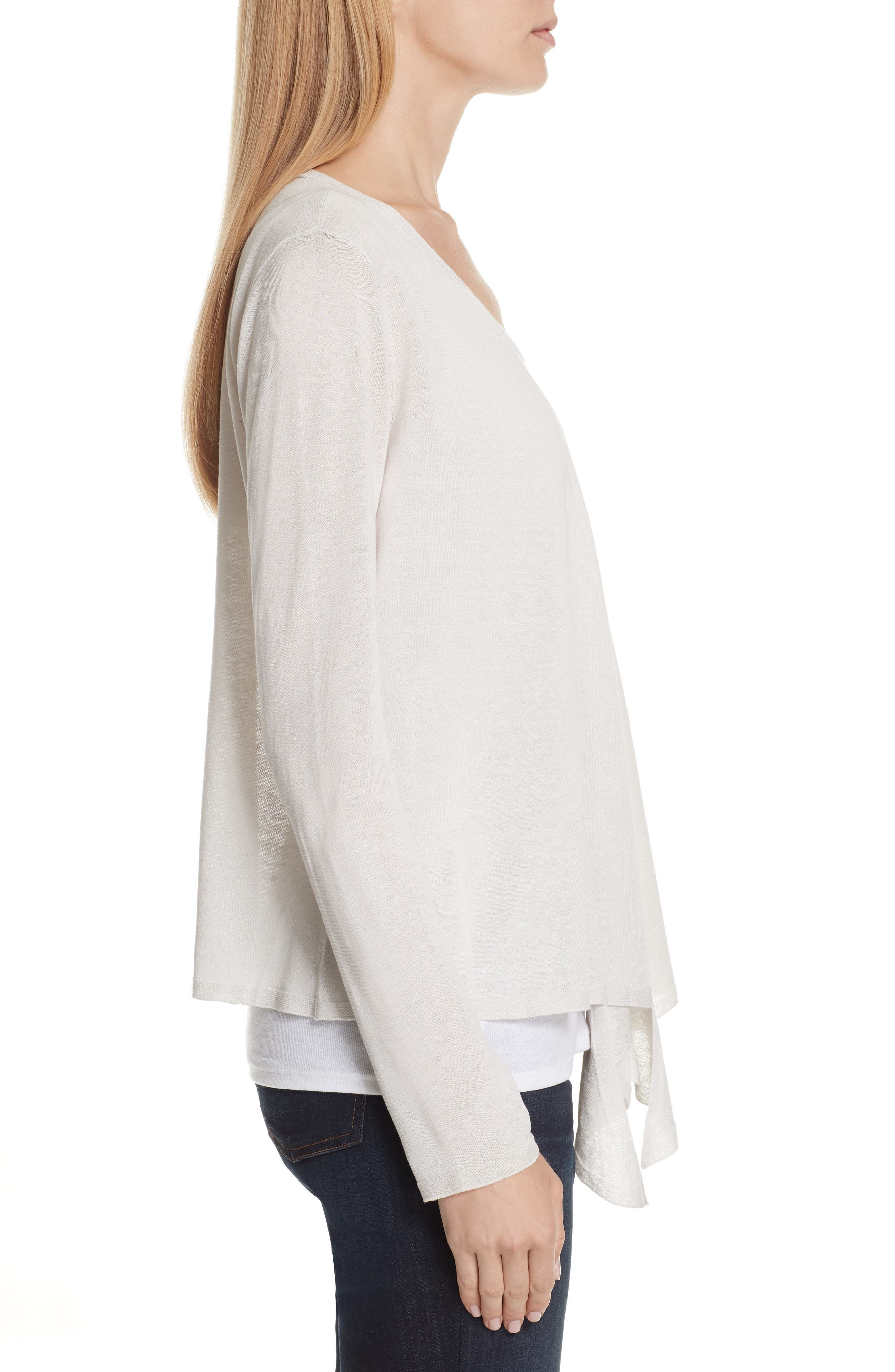 Angle Front Silk Blend Cardigan,                             Alternate thumbnail 6, color,