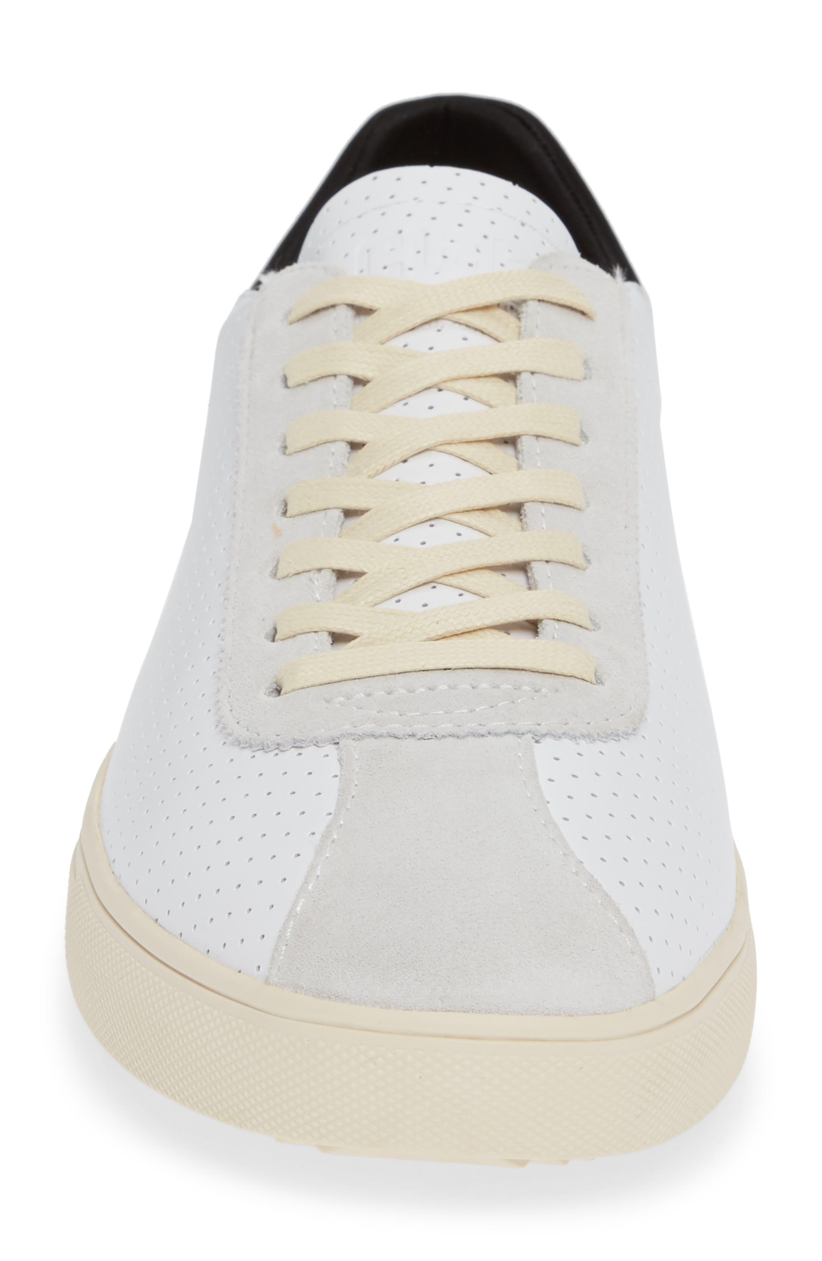 Noah Sneaker,                             Alternate thumbnail 4, color,                             WHITE LEATHER SUEDE CREAM