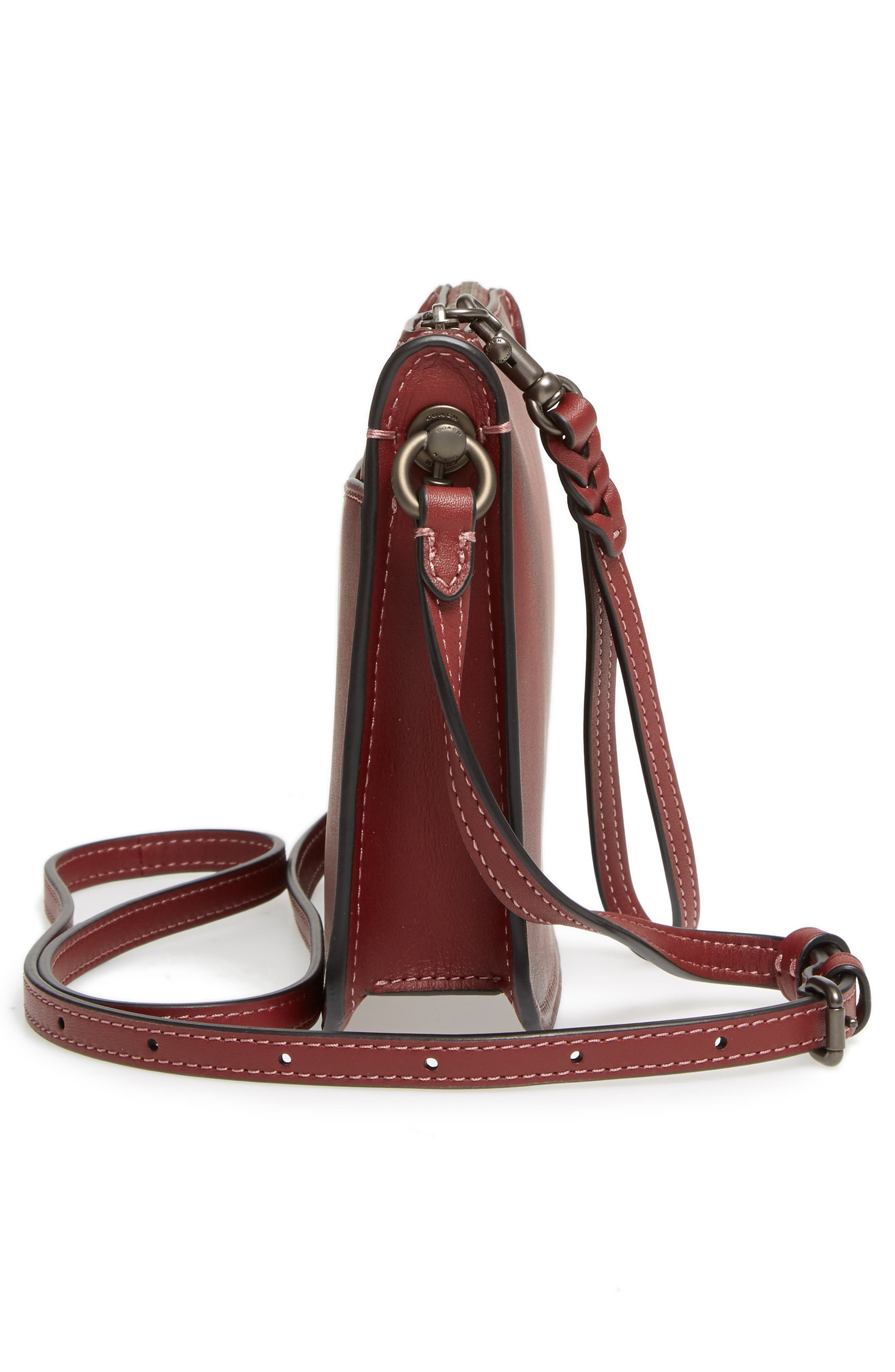 Soho Leather Crossbody Bag,                             Alternate thumbnail 5, color,                             614