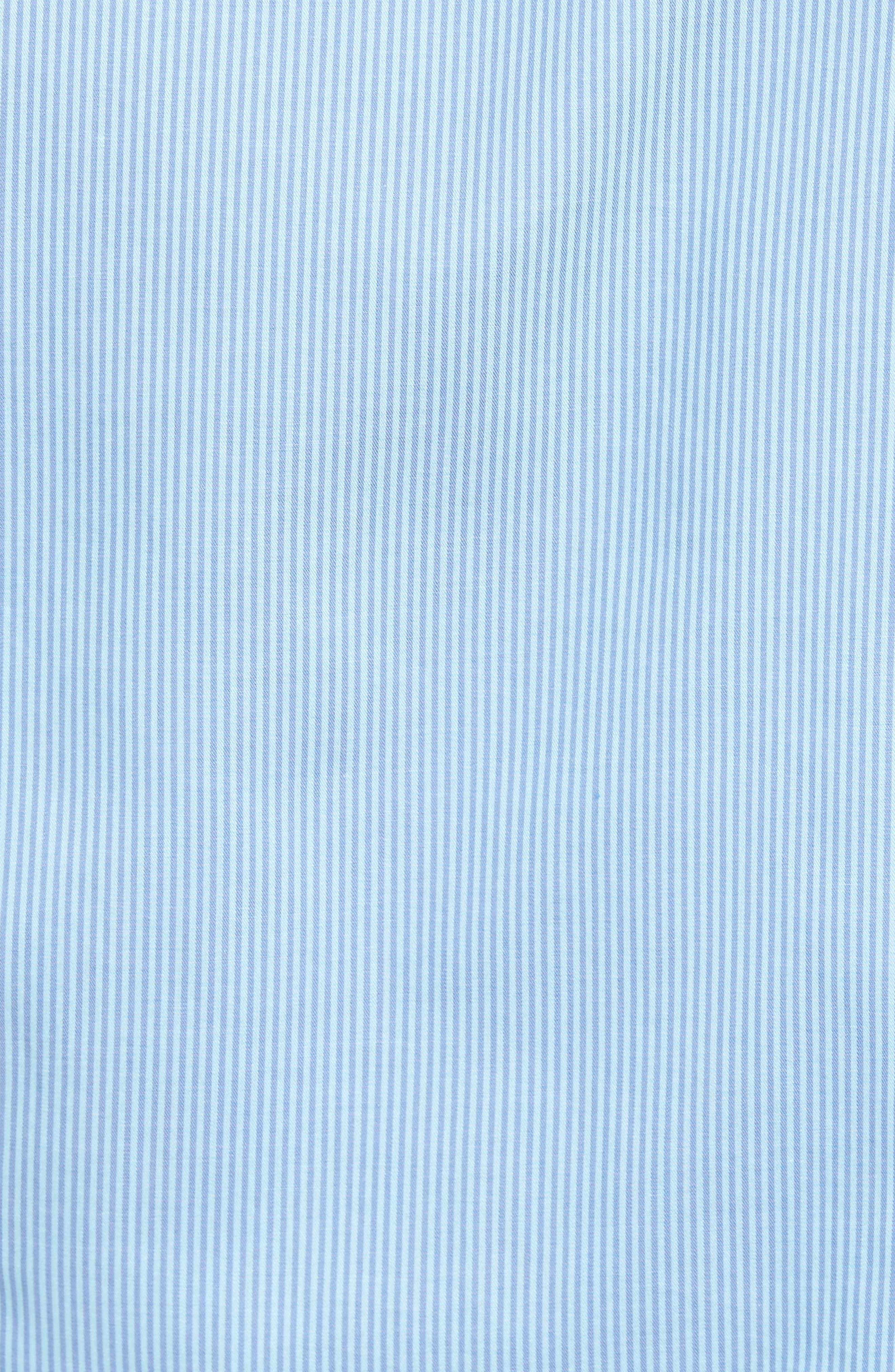 Slim Fit Stripe Twill Sport Shirt,                             Alternate thumbnail 5, color,