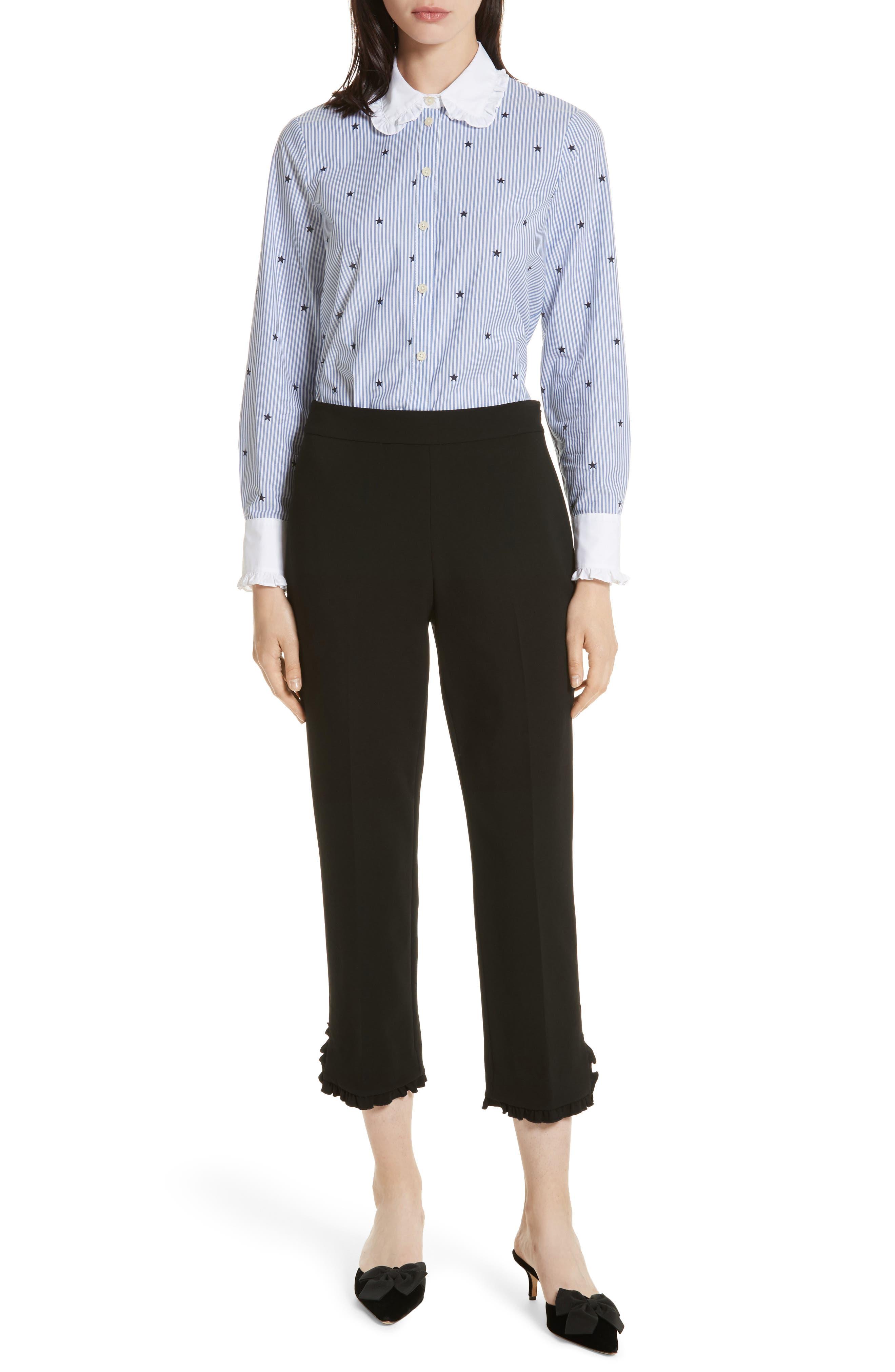 twinkle stripe poplin shirt,                             Alternate thumbnail 7, color,                             491