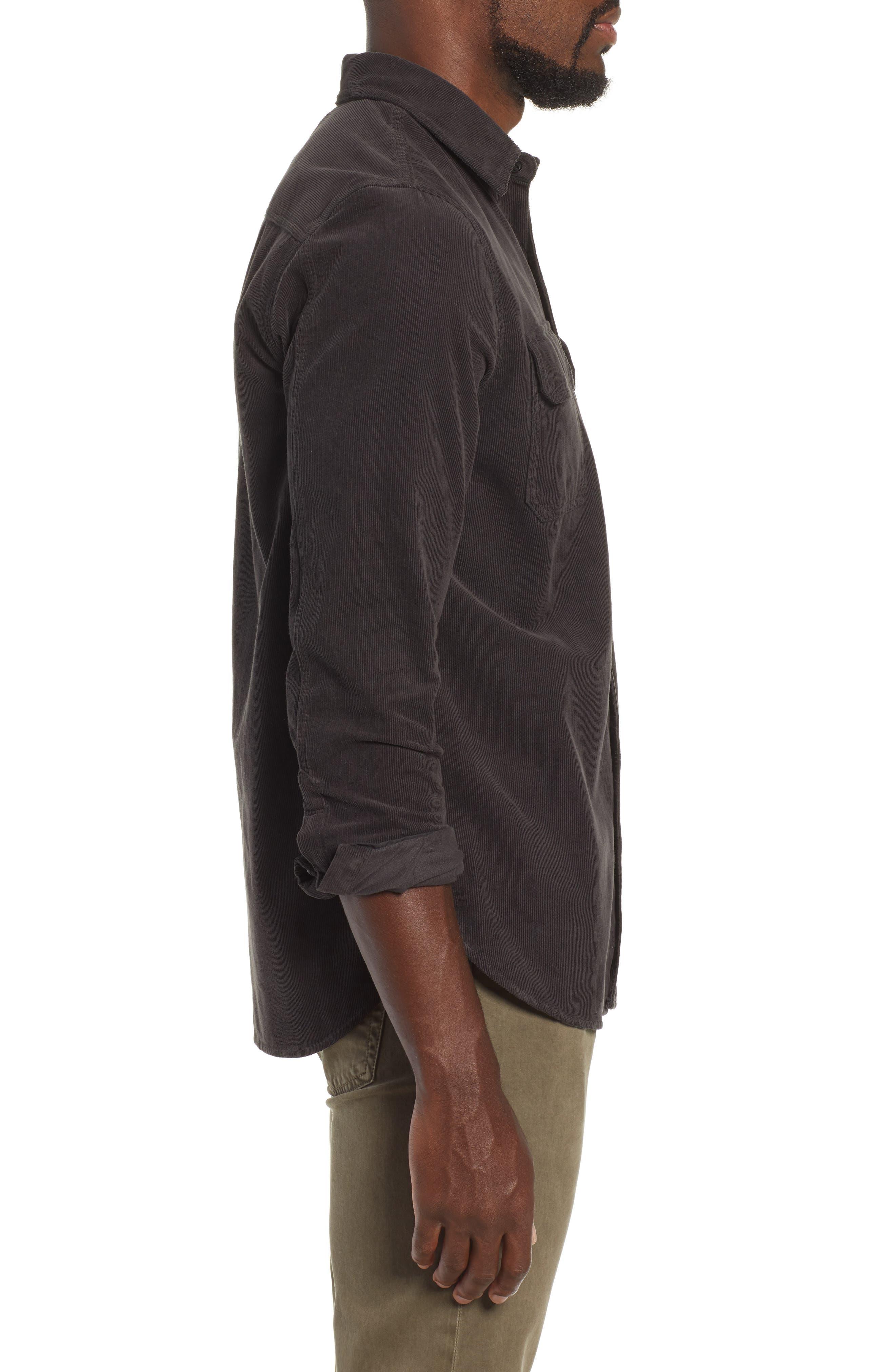 Benning Slim Fit Utility Shirt,                             Alternate thumbnail 4, color,                             GRAY STONE