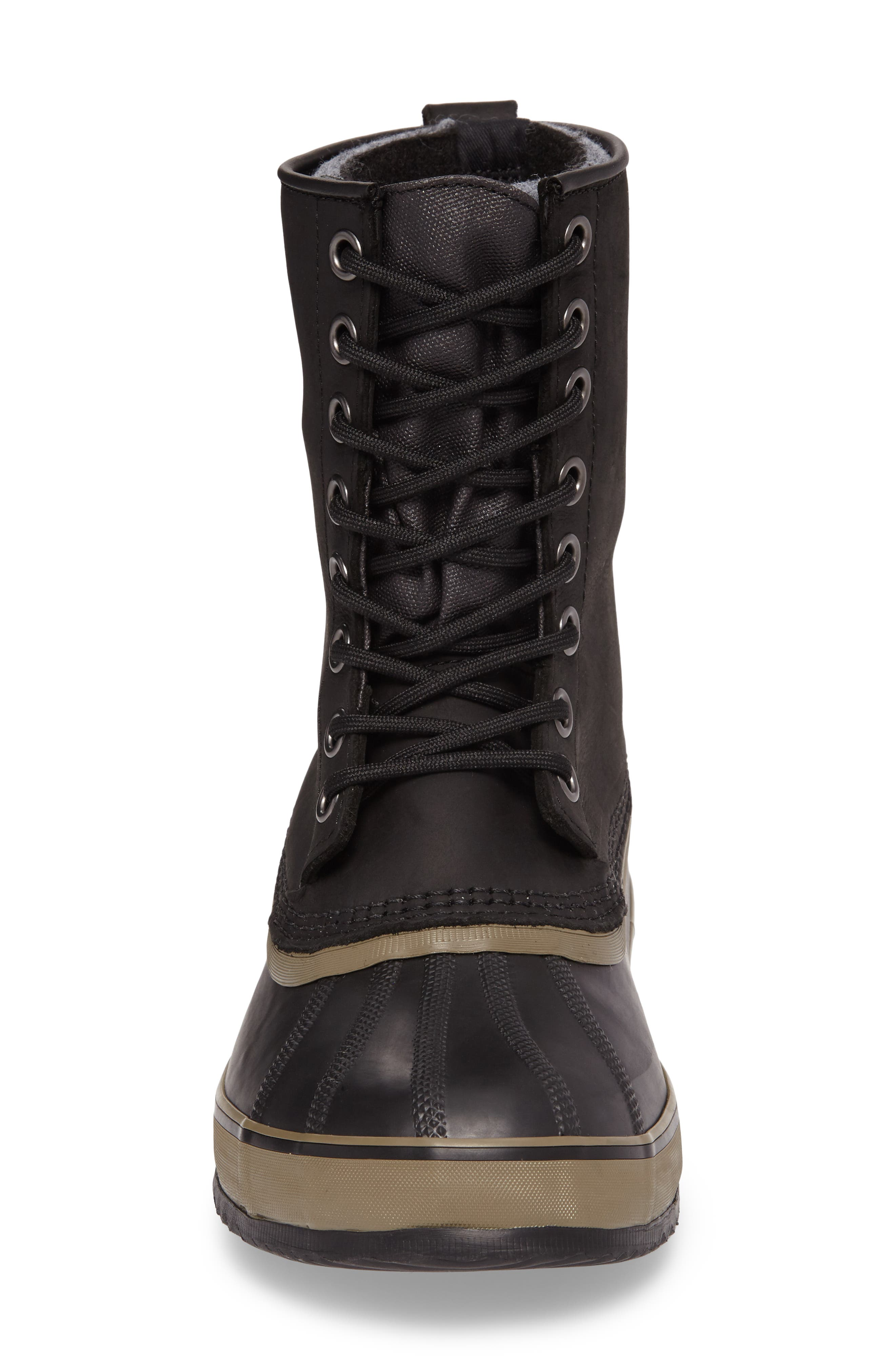 1964 Premium T Snow Waterproof Boot,                             Alternate thumbnail 4, color,                             BLACK LEATHER