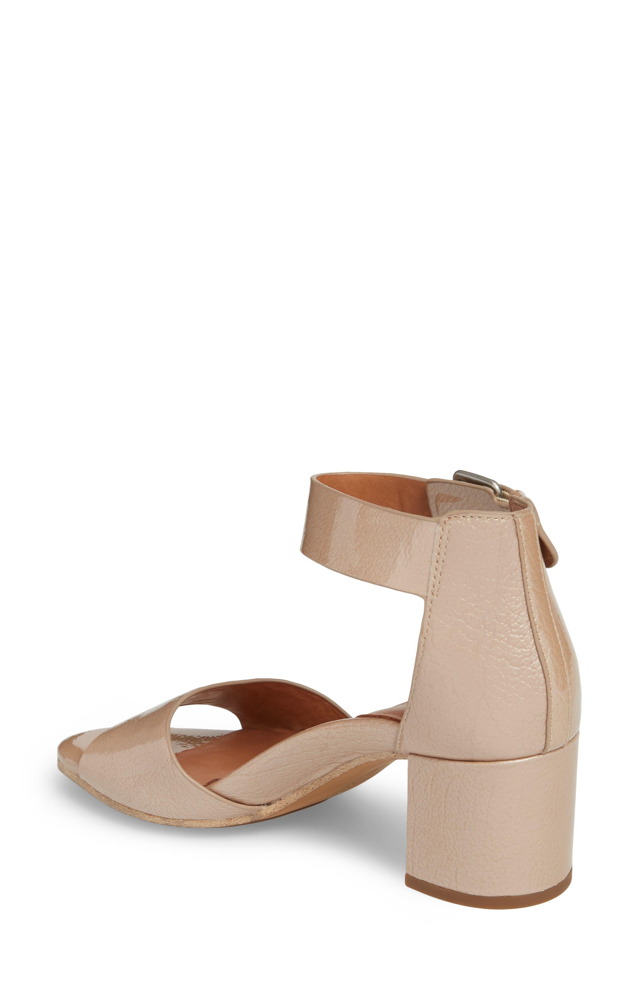 Christa Block Heel Sandal,                             Alternate thumbnail 2, color,                             NUDE PATENT LEATHER