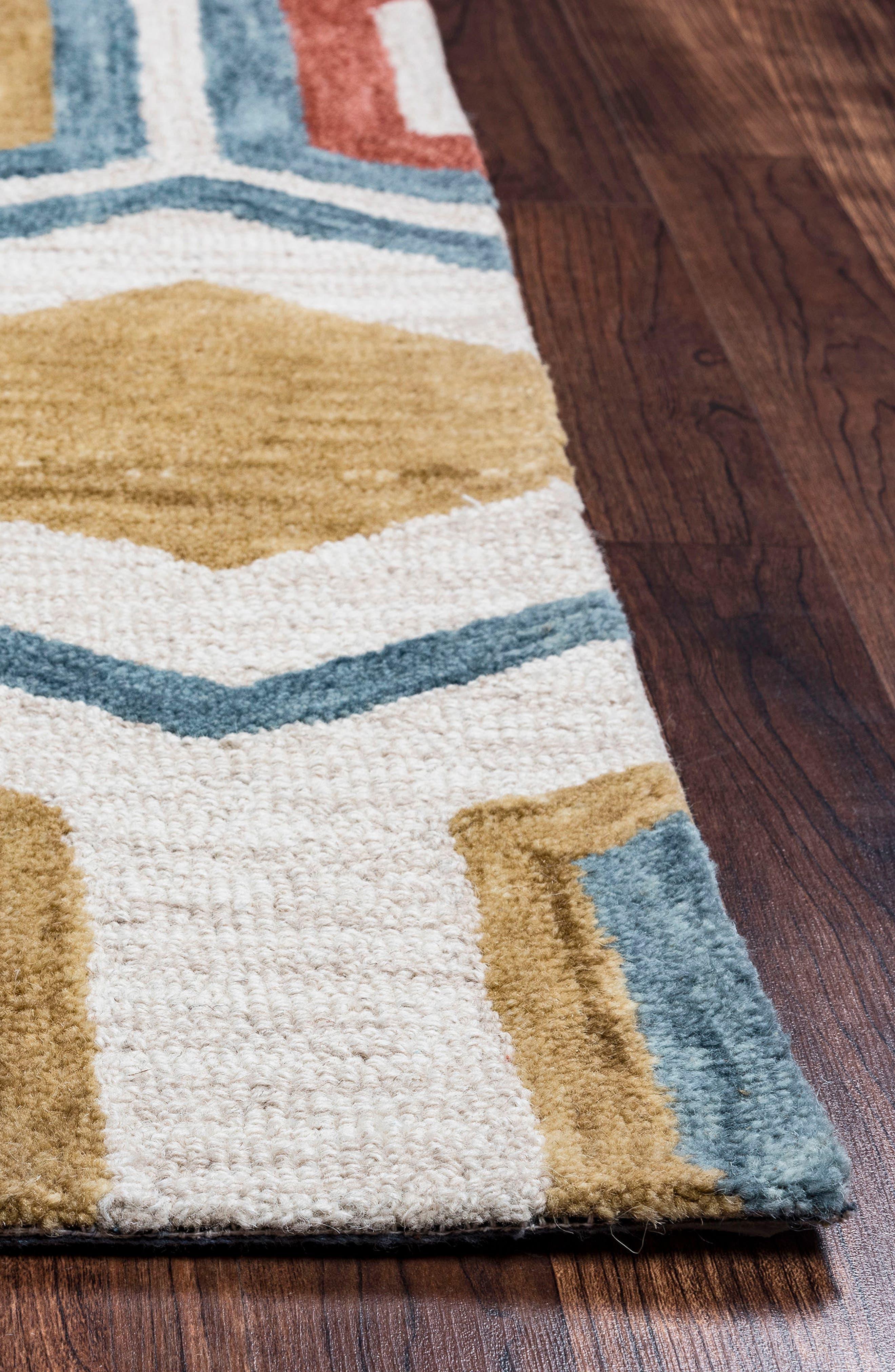'Lancaster Geometric' Hand Tufted Wool Area Rug,                             Alternate thumbnail 4, color,                             020