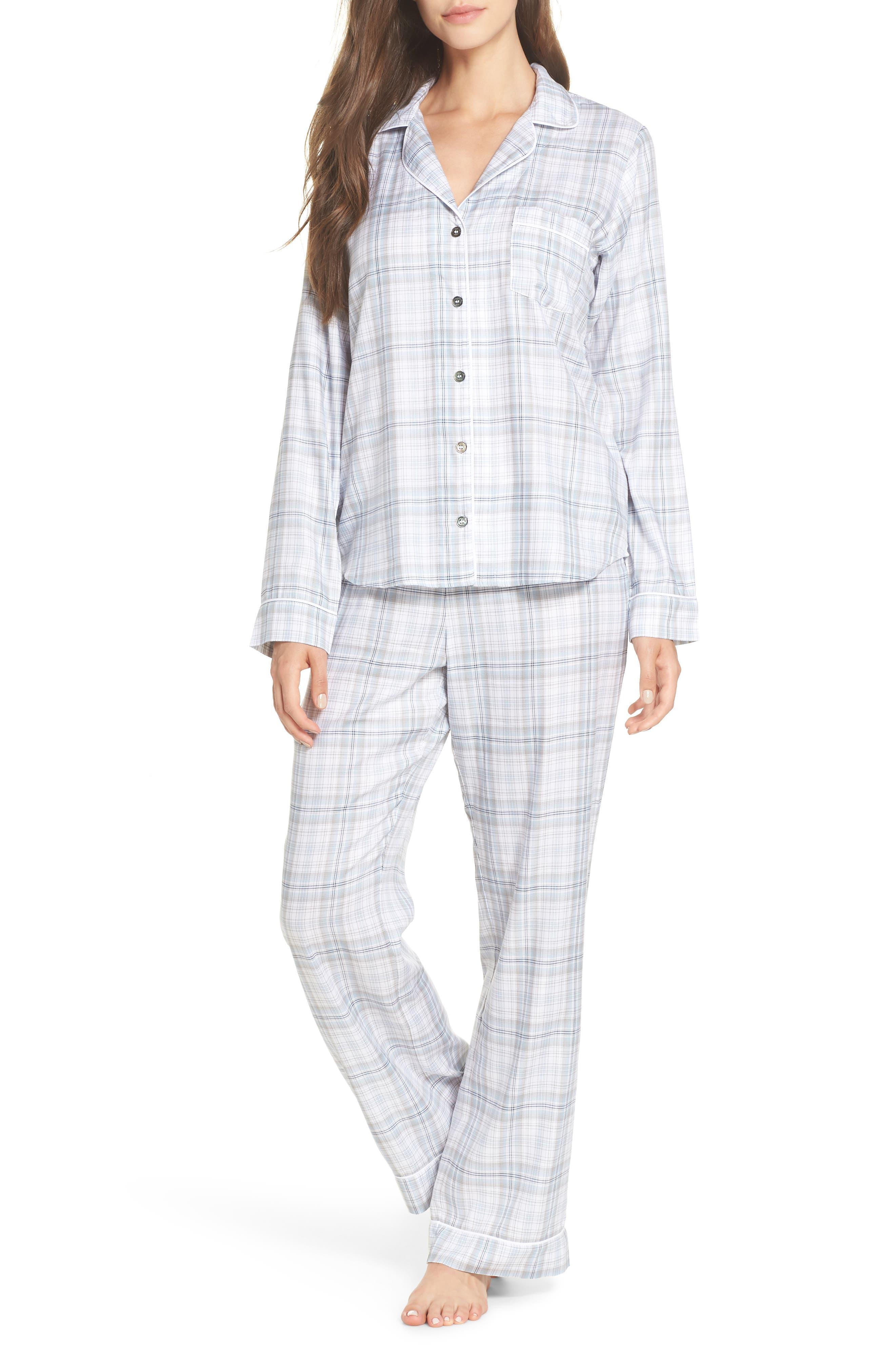 Raven Plaid Pajamas,                         Main,                         color, 453
