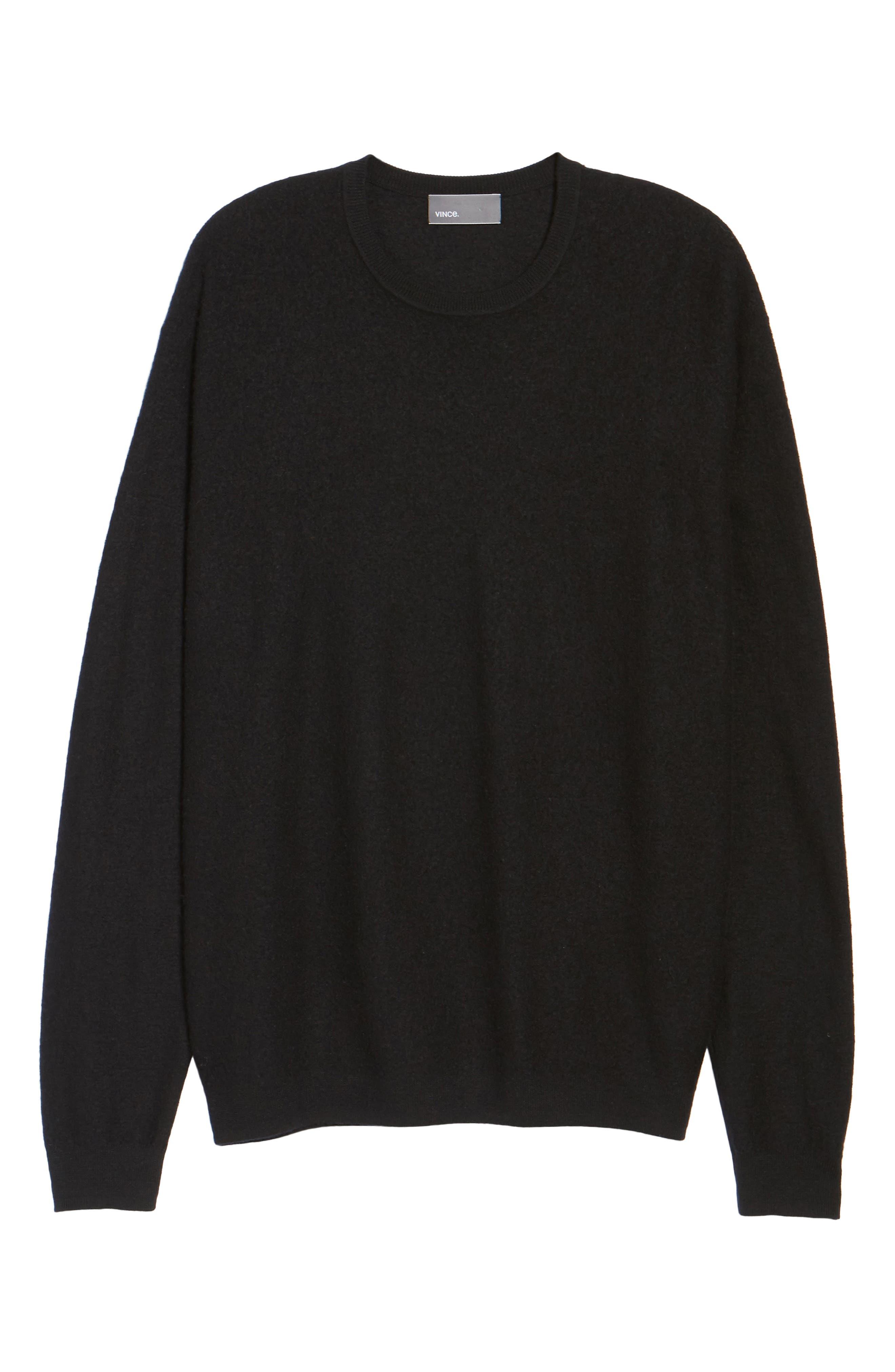 Cashmere Crewneck Sweater,                             Alternate thumbnail 6, color,                             001
