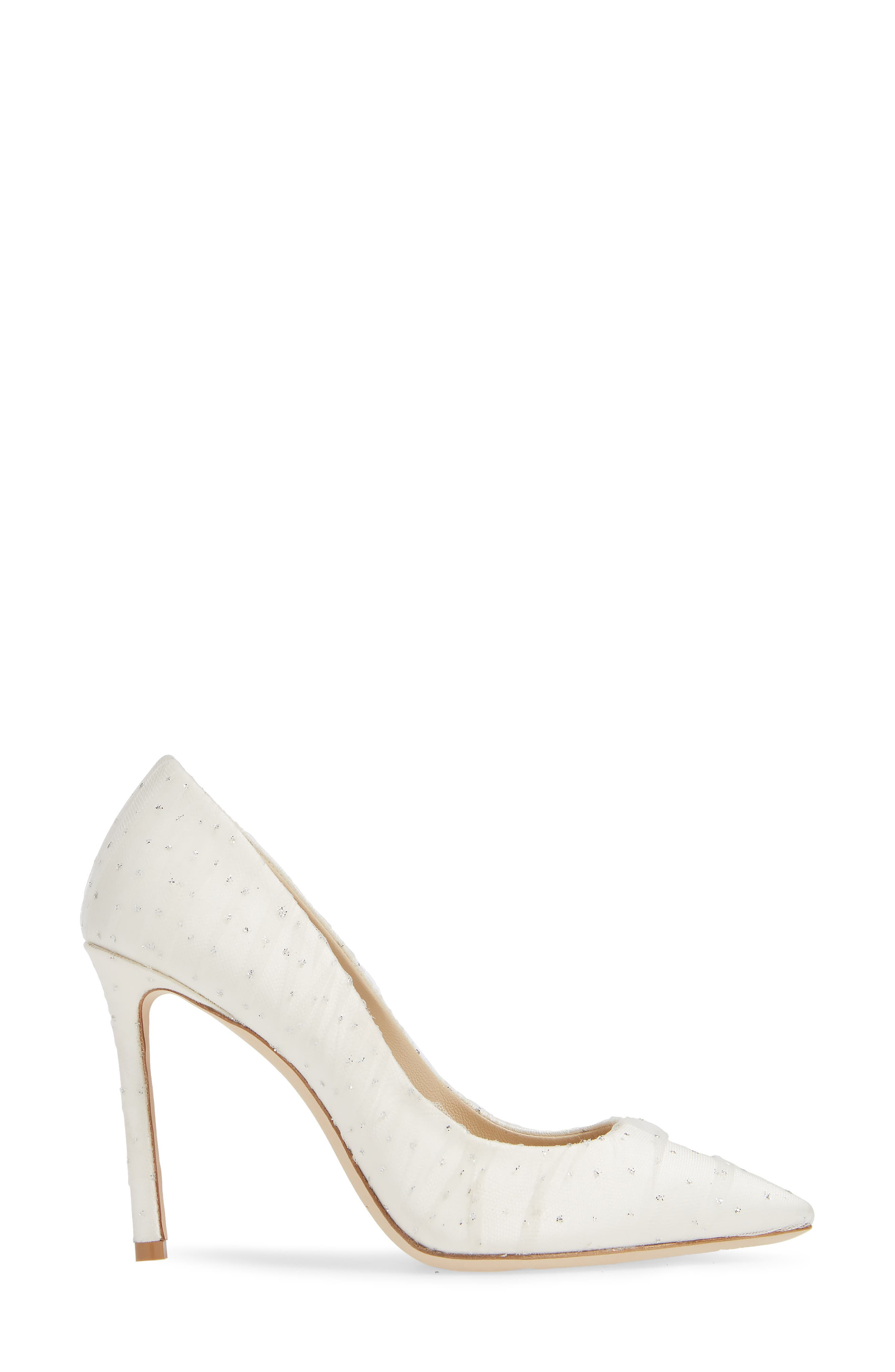 Romy Pointy Toe Pump,                             Alternate thumbnail 3, color,                             WHITE/ SILVER