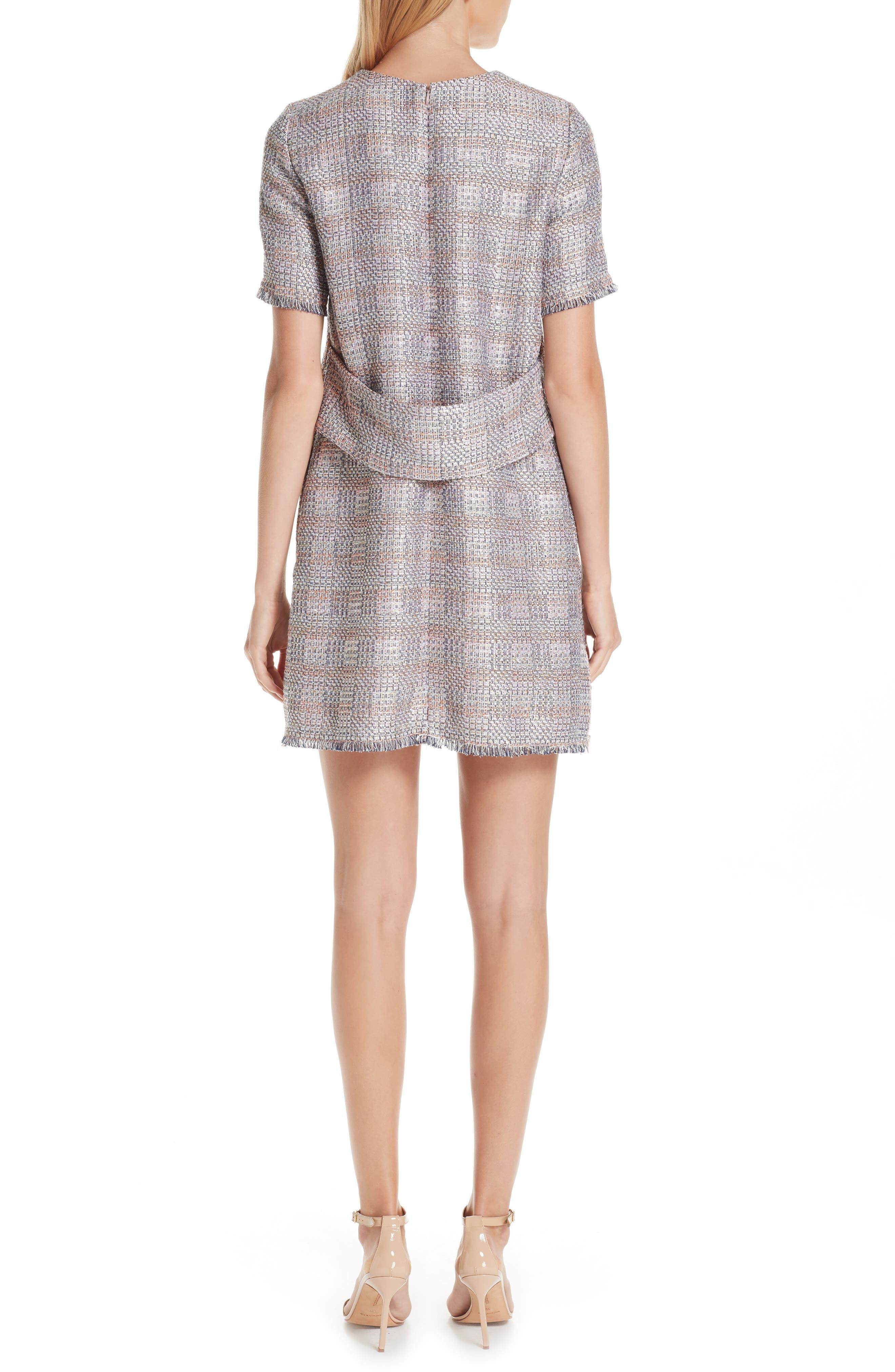 Check Woven Dress,                             Alternate thumbnail 2, color,                             MULTICOLOR