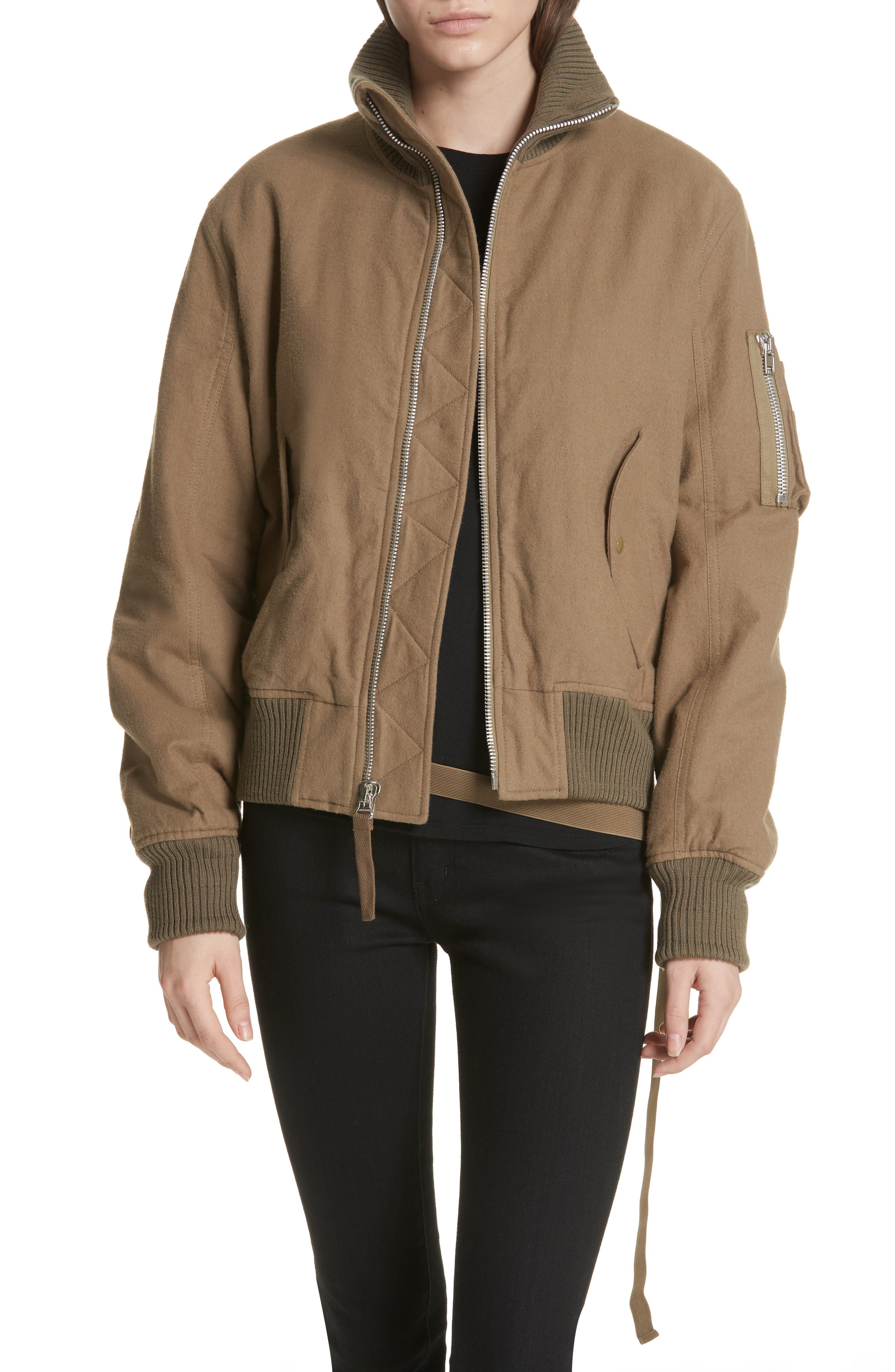 Re-Edition High Collar Bomber Jacket,                         Main,                         color, 317