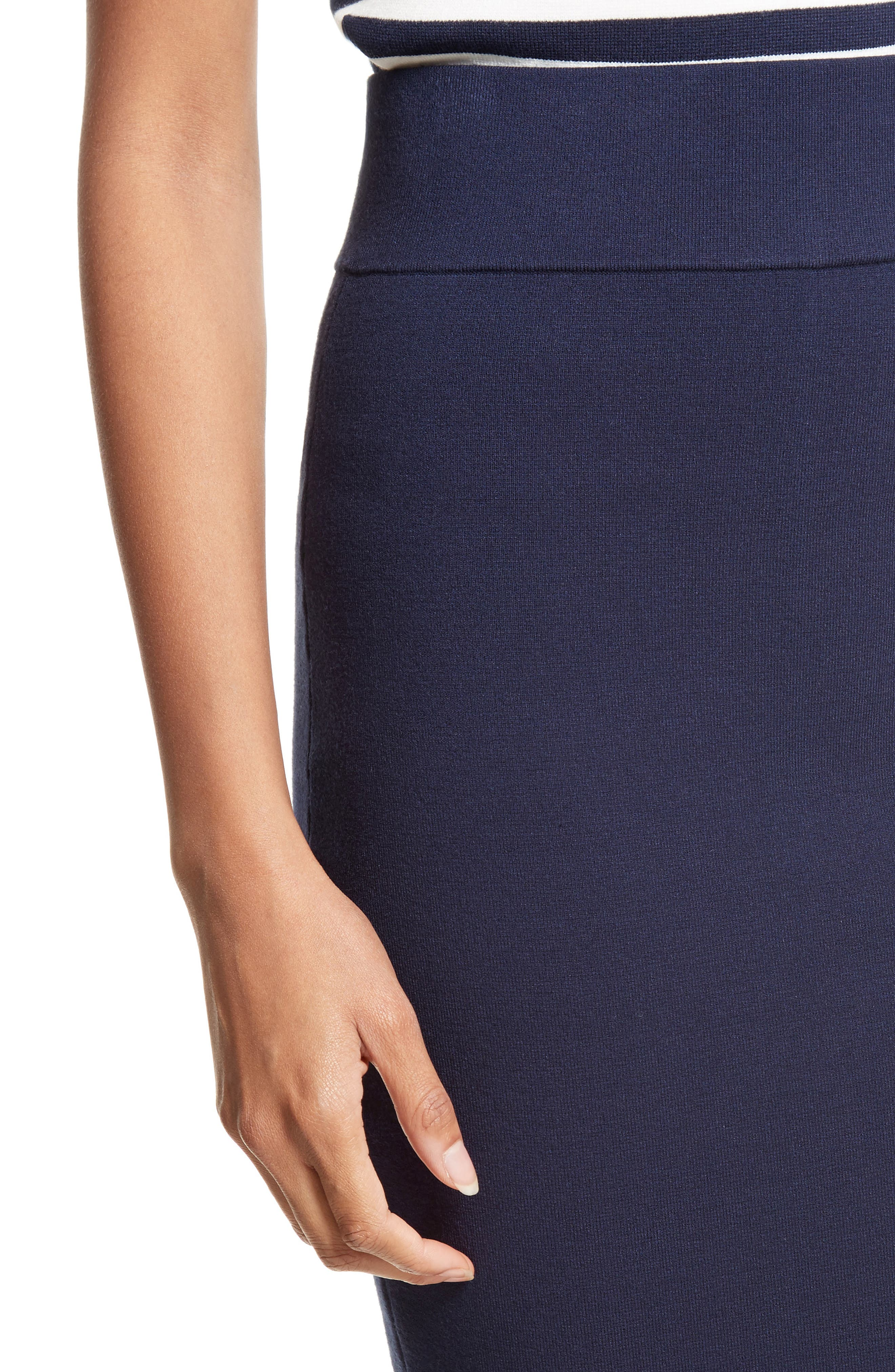 Stretch Knit Pencil Skirt,                             Alternate thumbnail 4, color,                             410