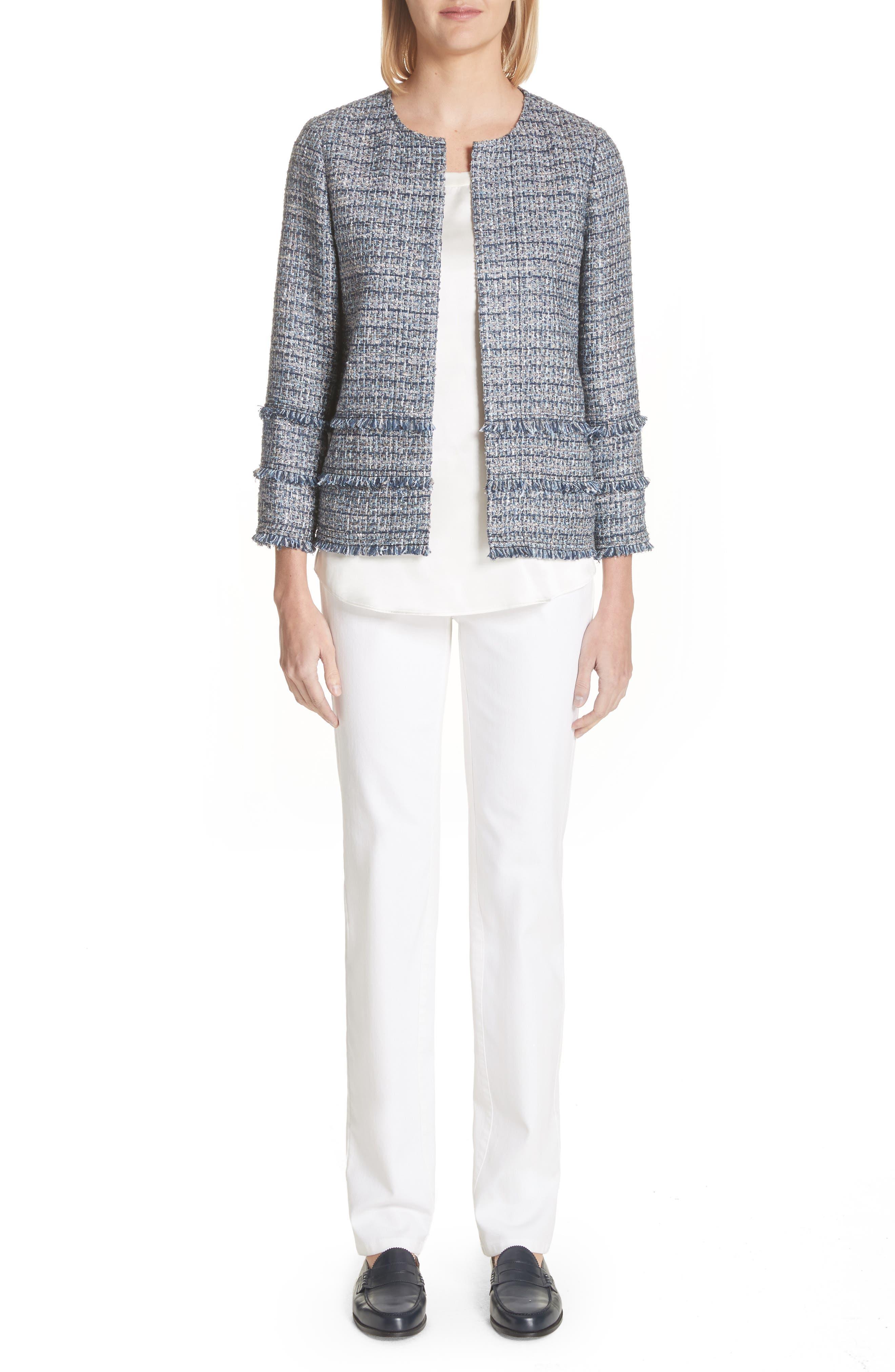 Aisha Exhibition Tweed Jacket,                             Alternate thumbnail 7, color,                             412
