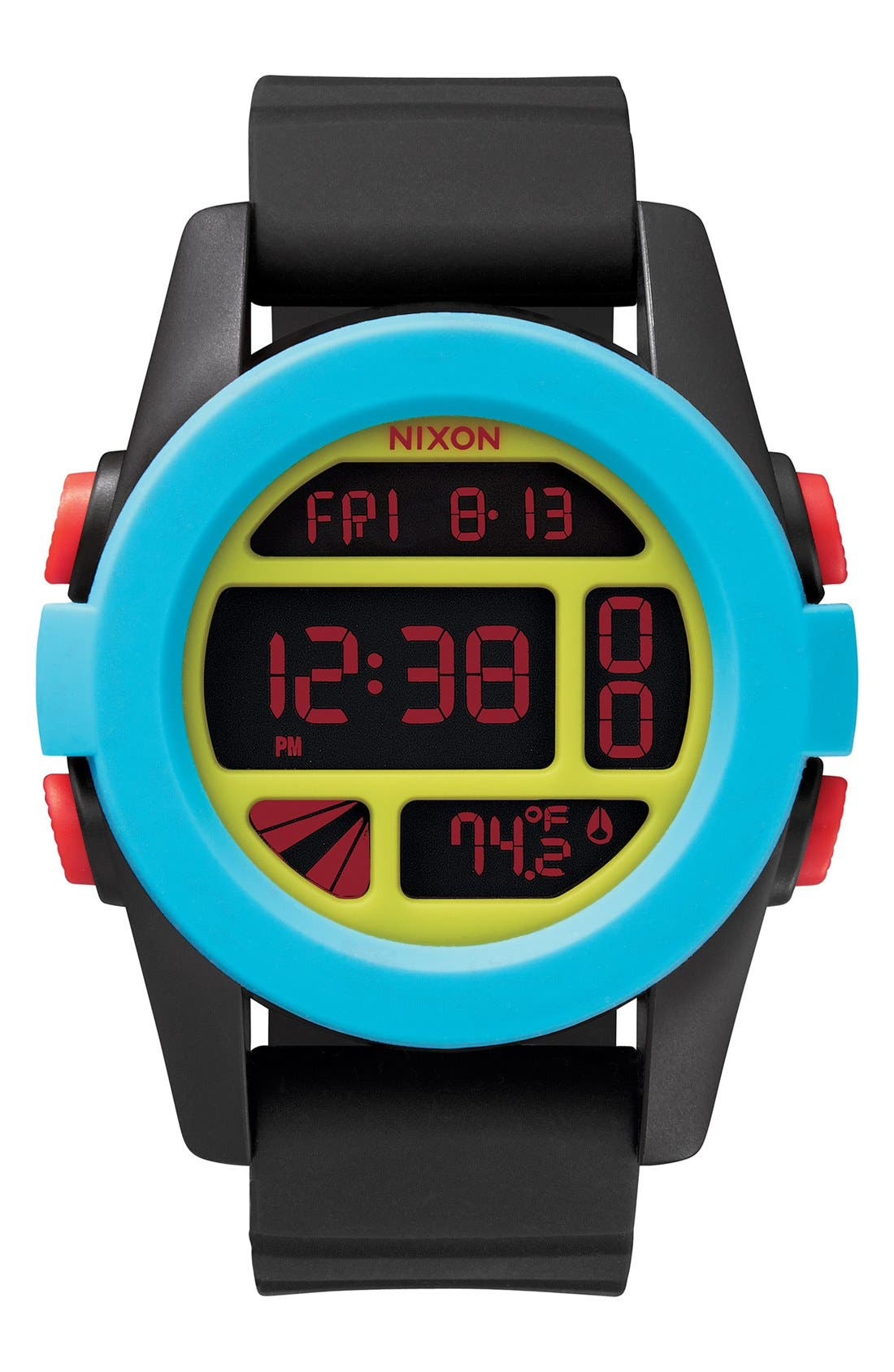 'The Unit' Round Digital Watch, 44mm,                             Main thumbnail 5, color,