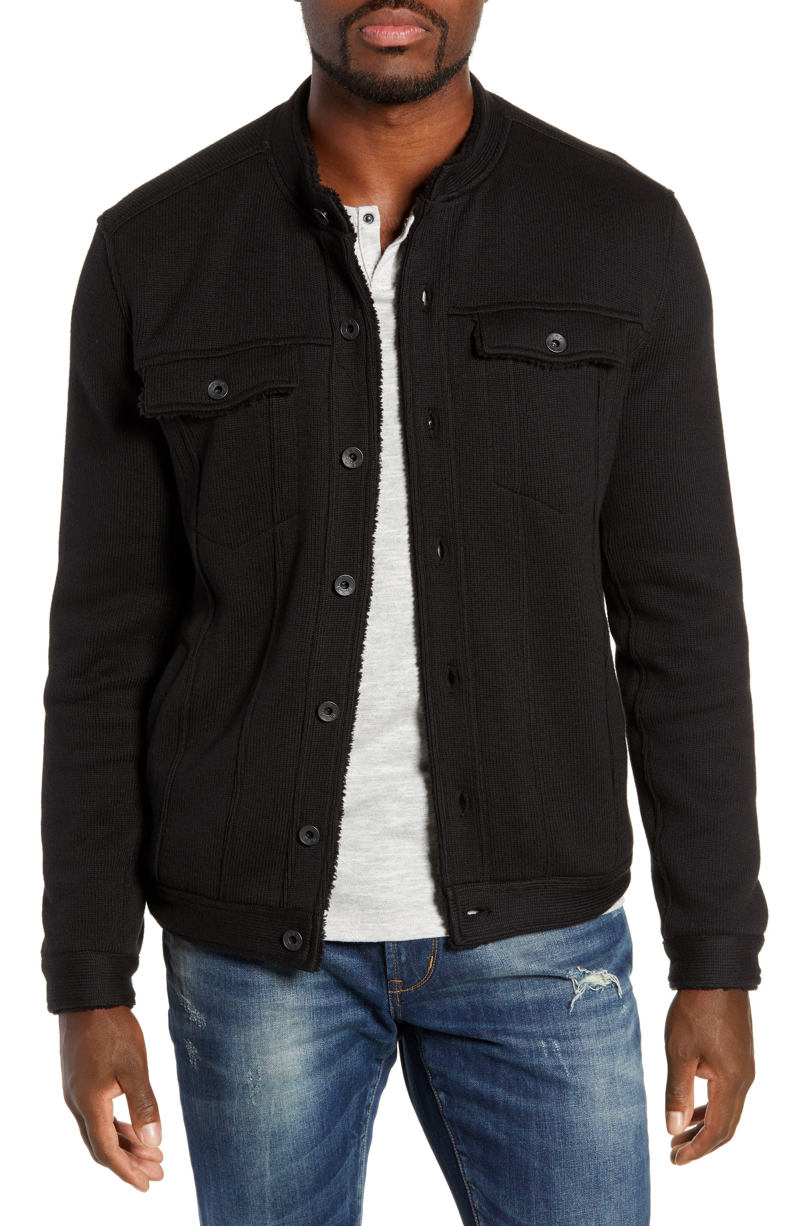 Lined Jean Jacket,                         Main,                         color, BLACK