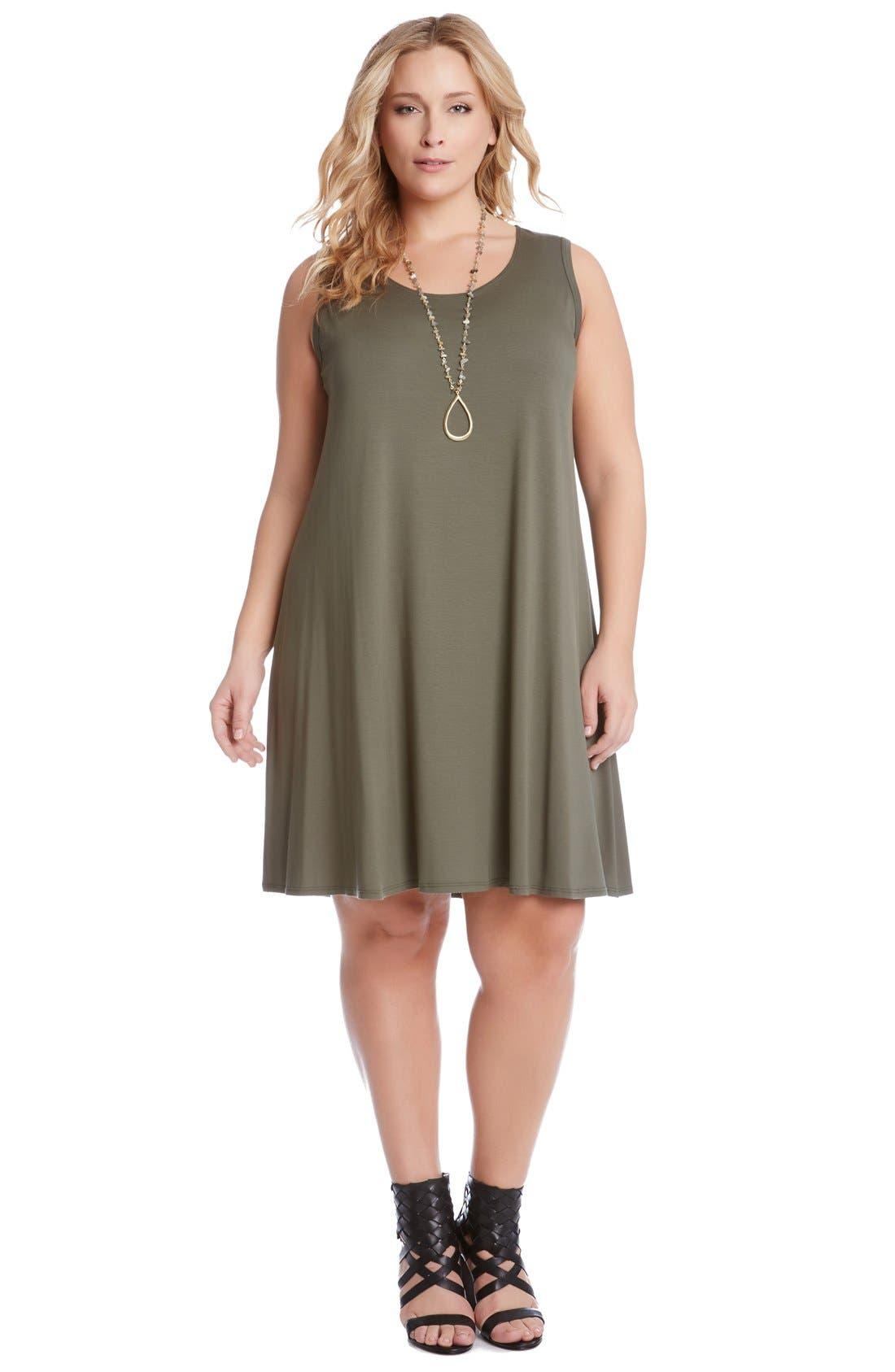 'Maggie' Sleeveless Trapeze Dress,                             Alternate thumbnail 2, color,                             313