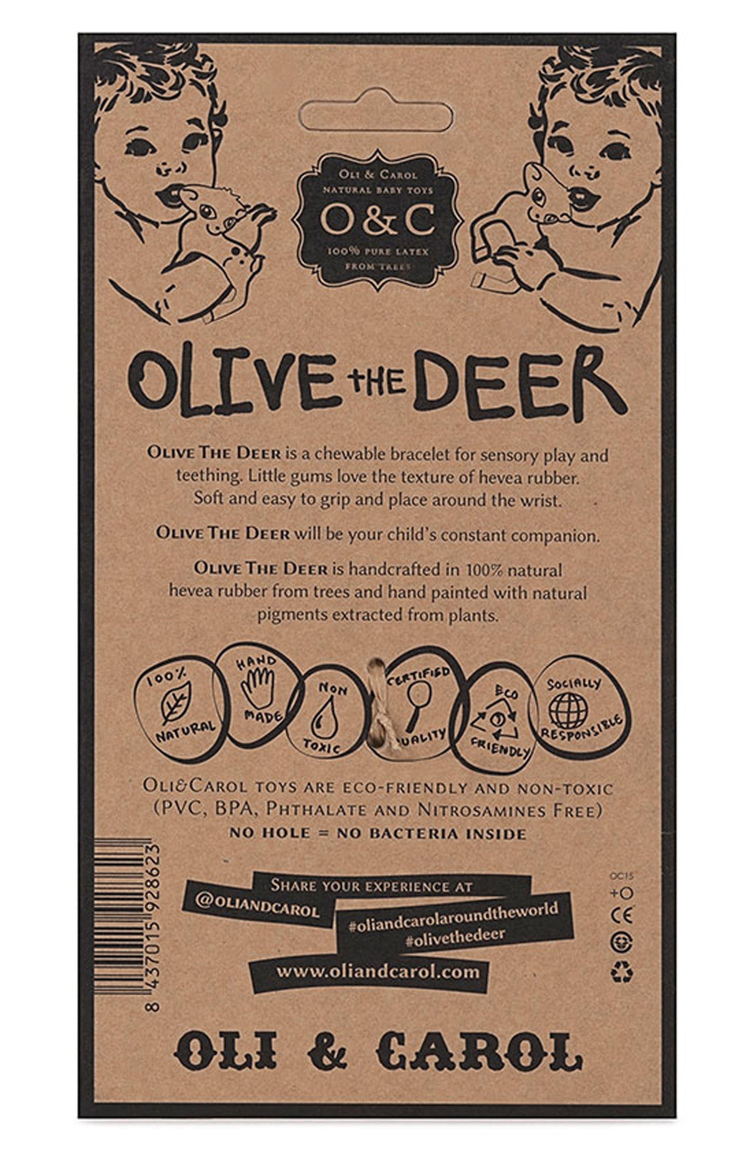 Olive the Deer Teething Bracelet,                             Alternate thumbnail 4, color,                             BROWN DEER BRACELET