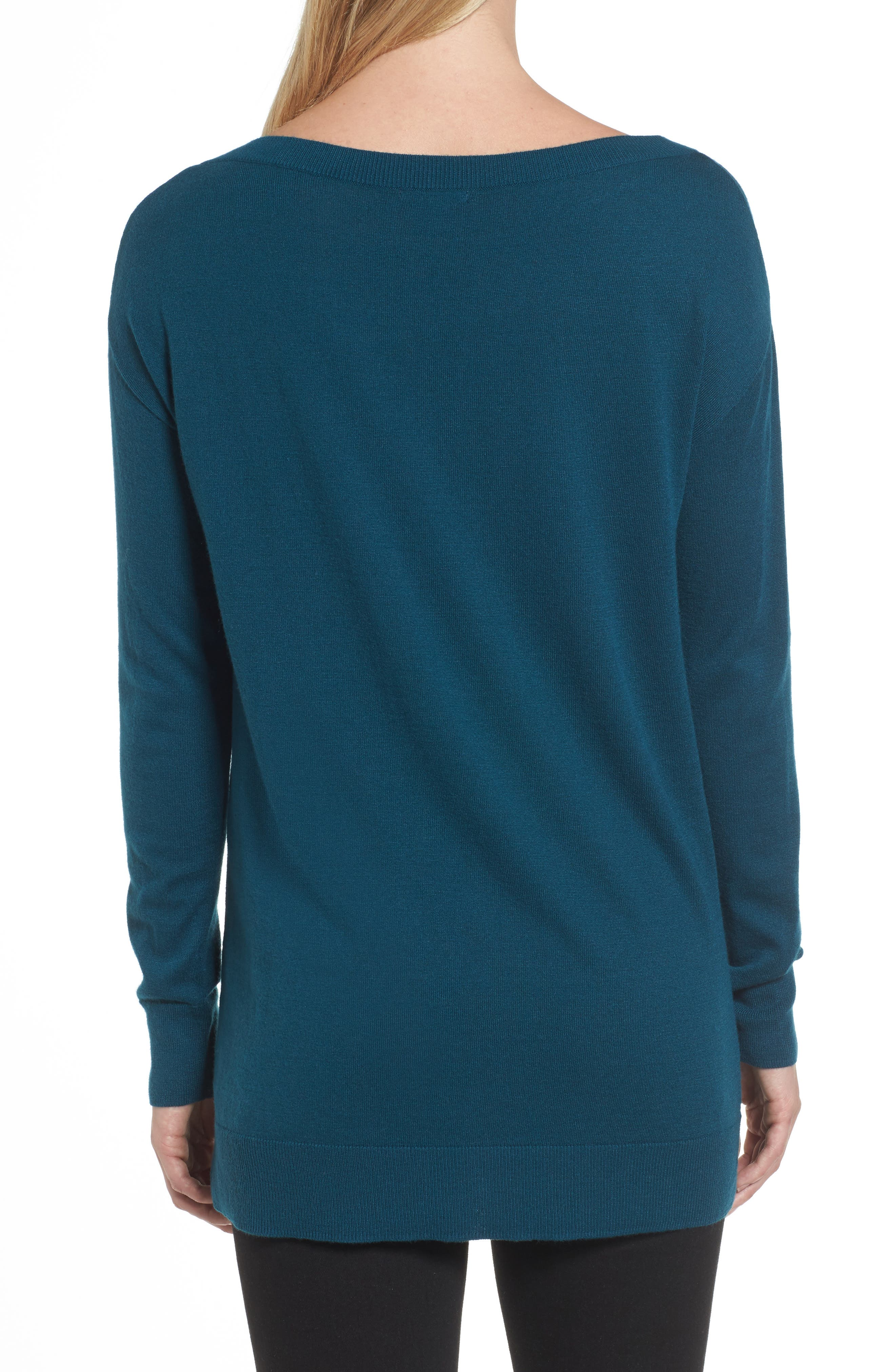 Boatneck Tunic Sweater,                             Alternate thumbnail 13, color,