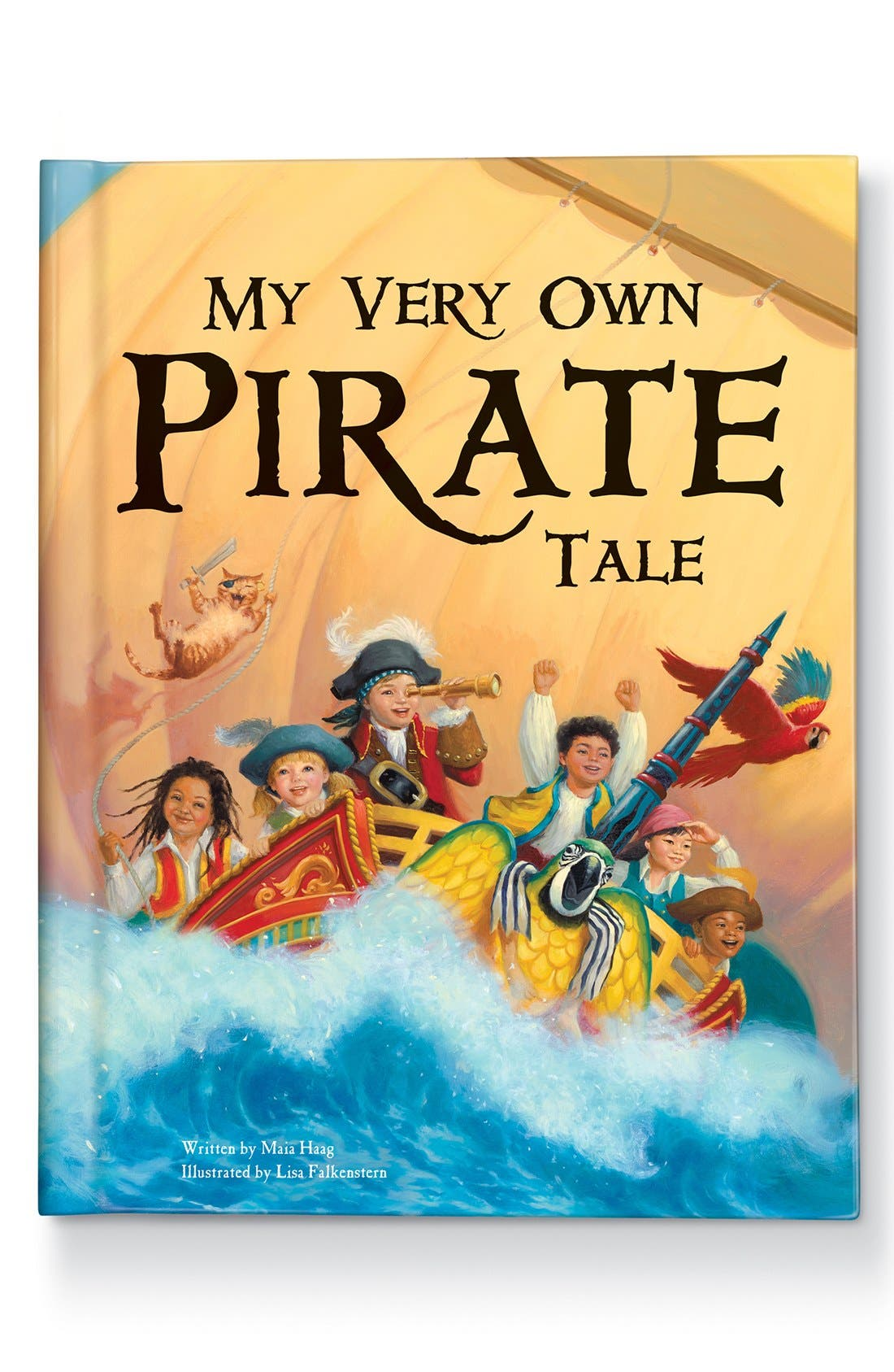 I SEE ME!,                             'My Very Own Pirate Tale' Personalized Hardcover Book,                             Main thumbnail 1, color,                             000