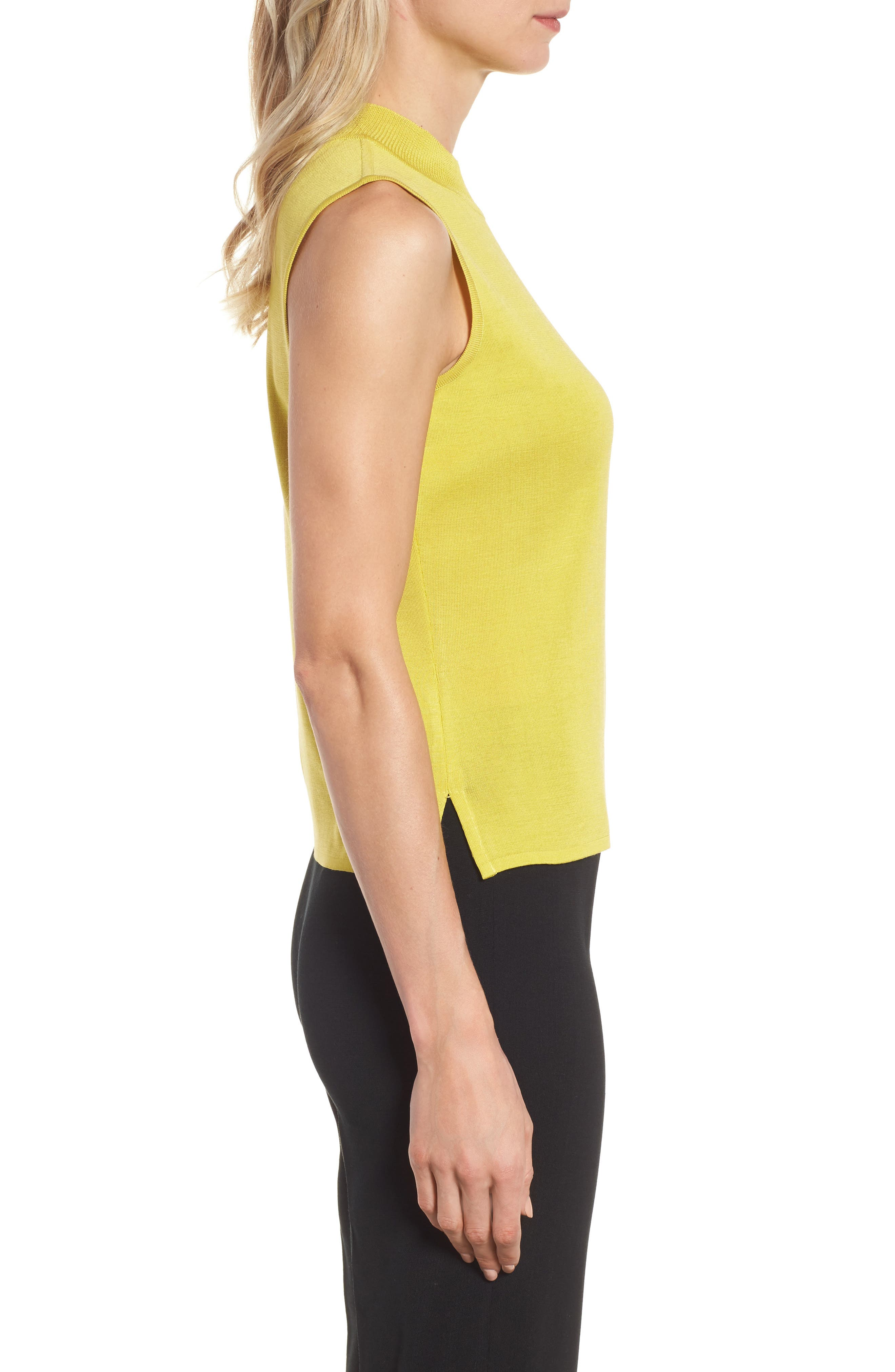 Mock Neck Knit Tank,                             Alternate thumbnail 3, color,                             720