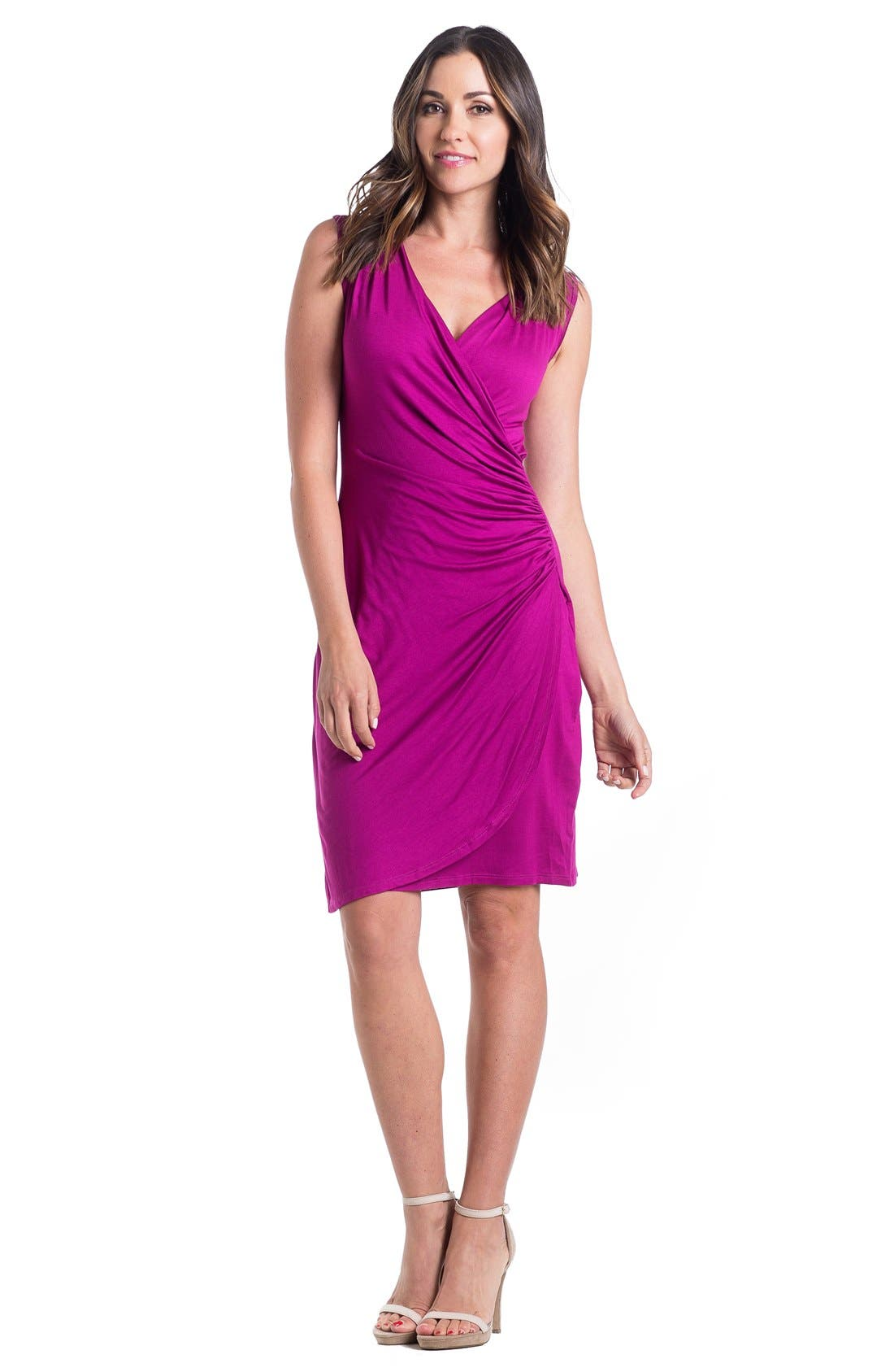 'Brynley' Surplice Maternity Dress,                             Alternate thumbnail 17, color,