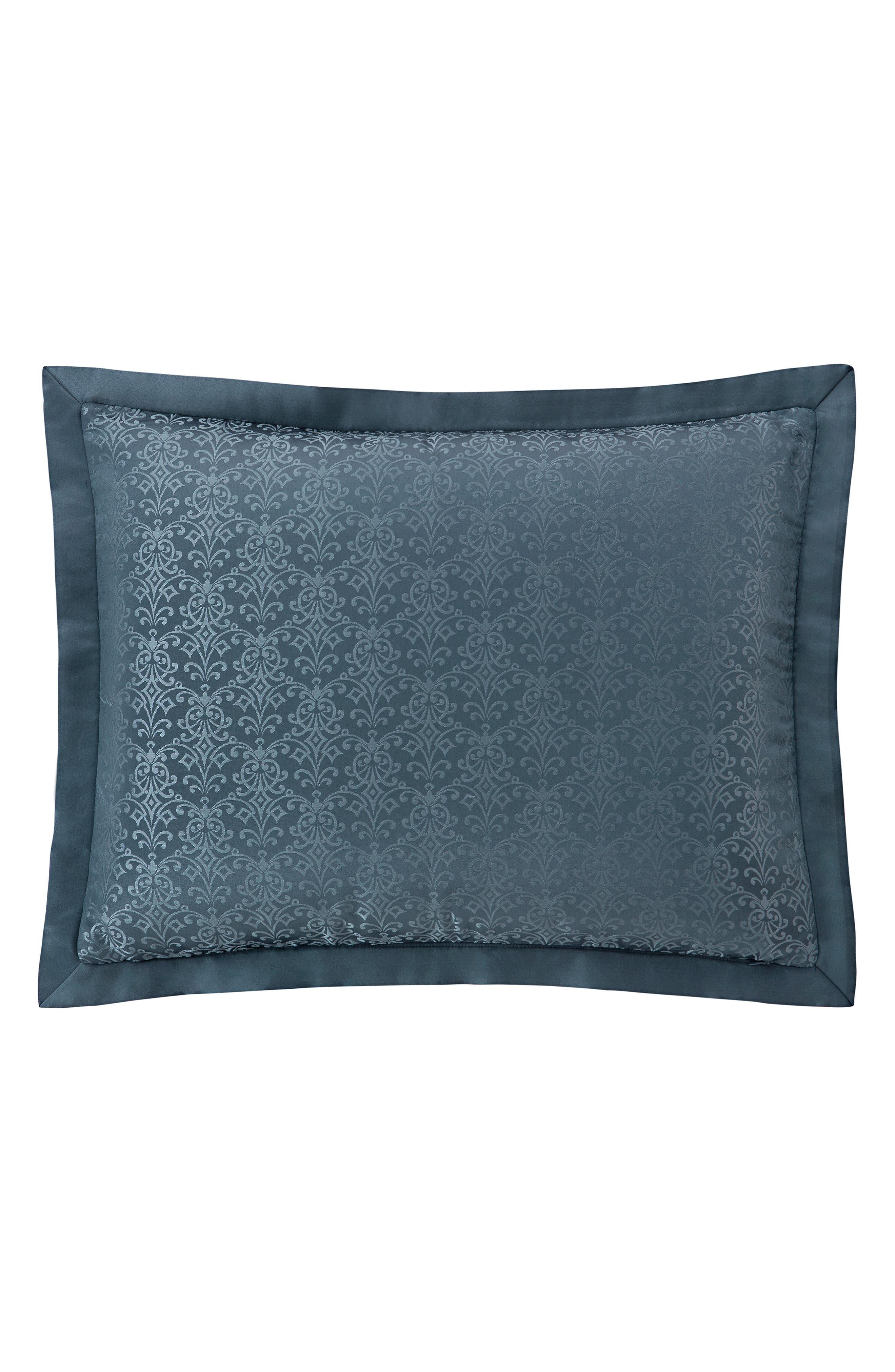 Everett Reversible Comforter, Sham & Bed Skirt Set,                             Alternate thumbnail 6, color,                             TEAL