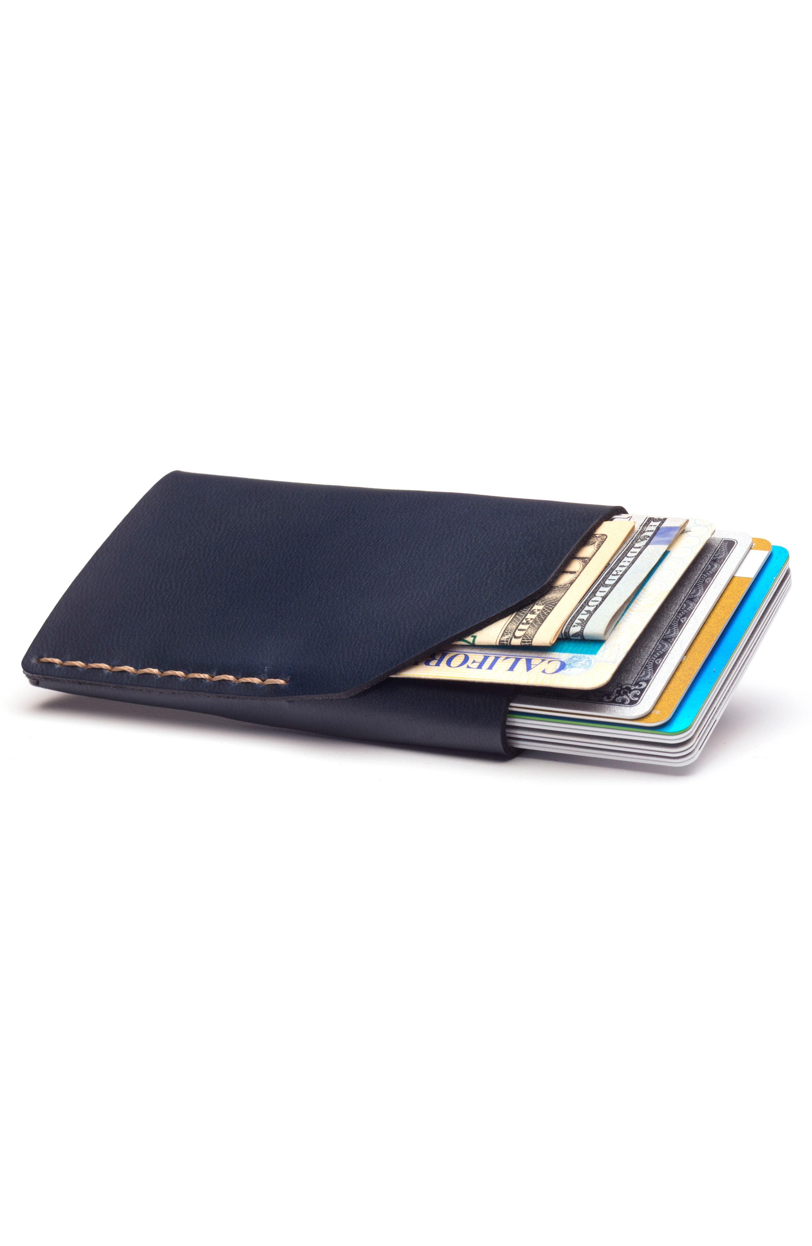 No. 2 Leather Card Case,                             Alternate thumbnail 2, color,                             NAVY