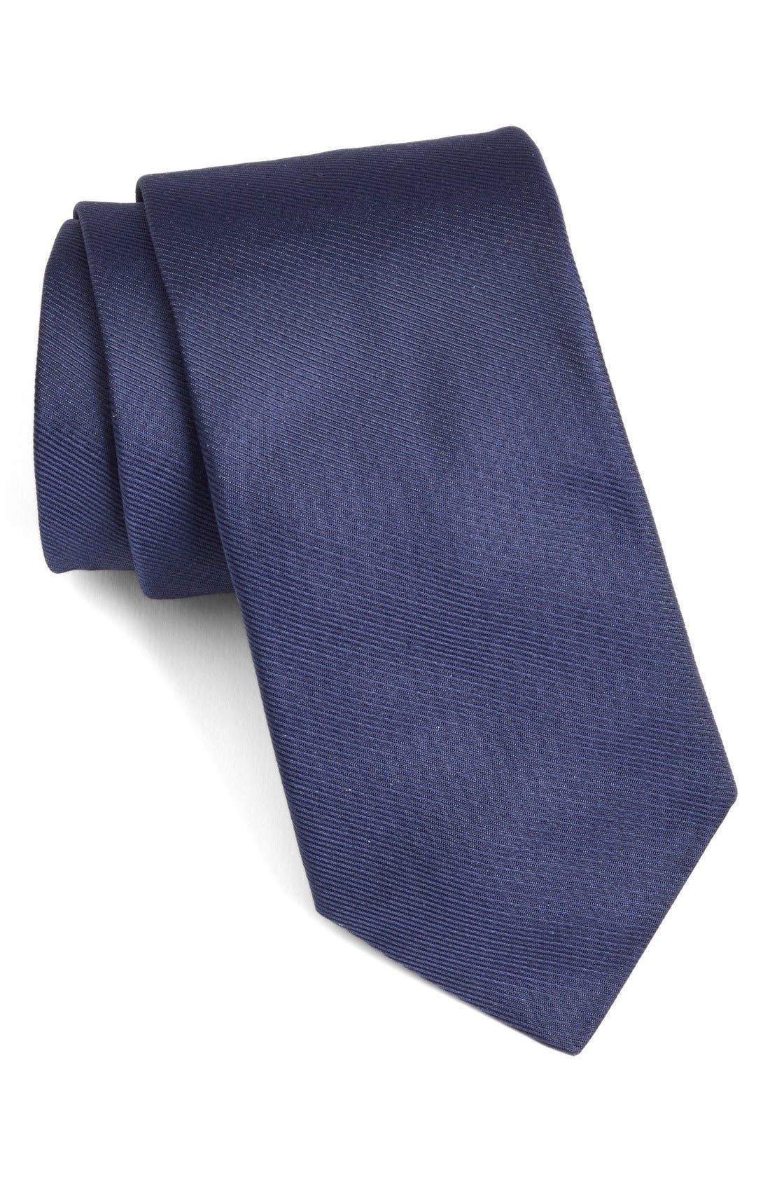 Solid Woven Silk Tie,                         Main,                         color,