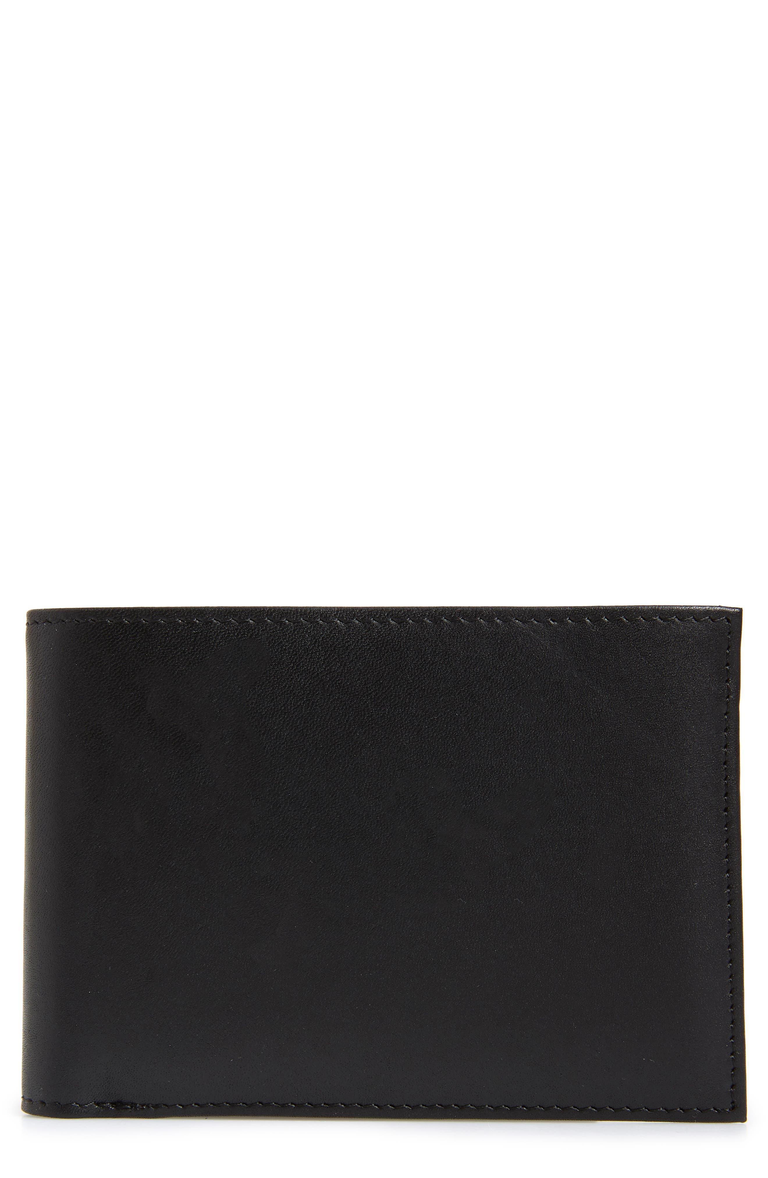 Chelsea Leather Wallet,                         Main,                         color, BLACK