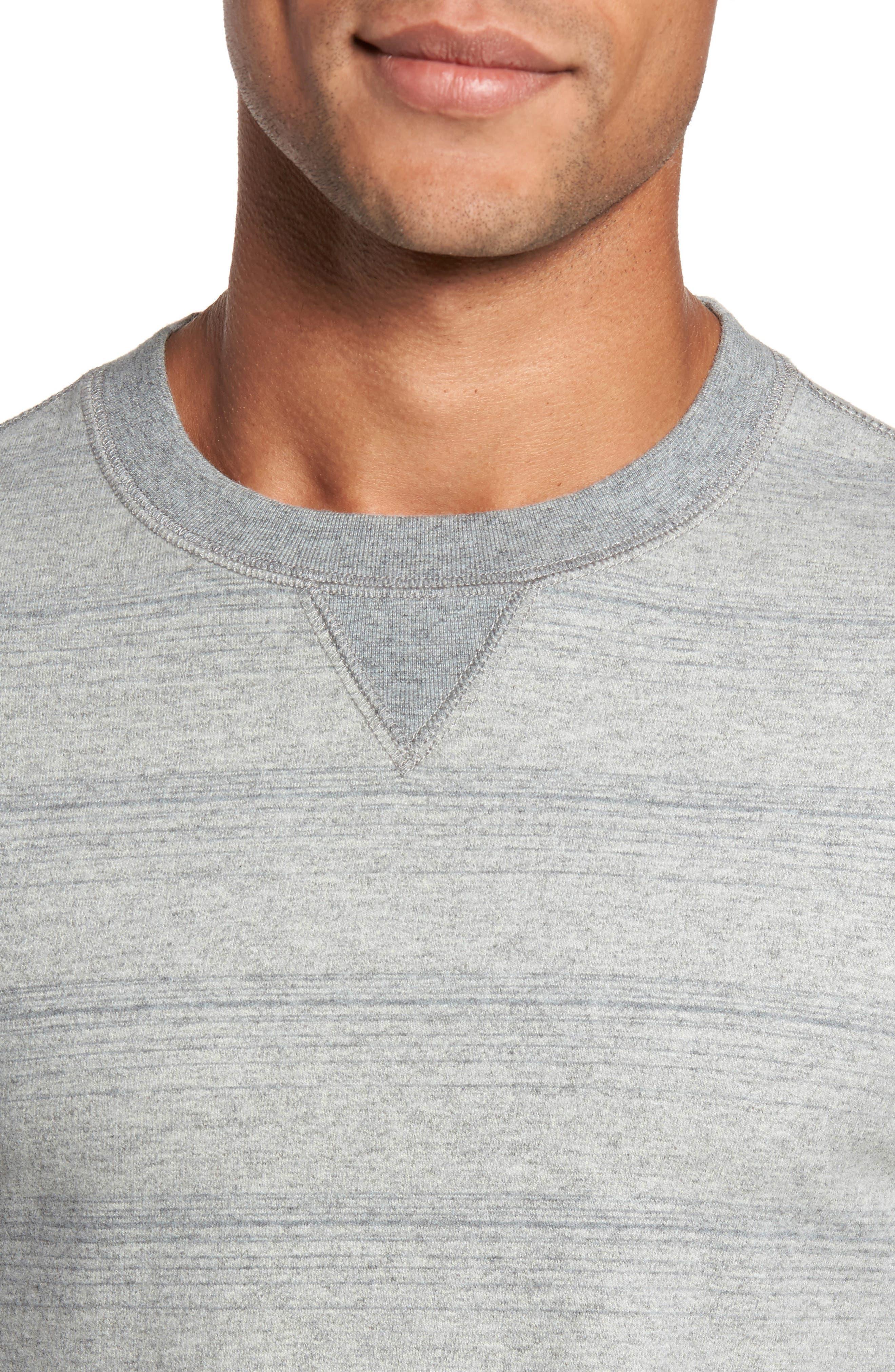 Striped Crewneck Sweater,                             Alternate thumbnail 4, color,                             035