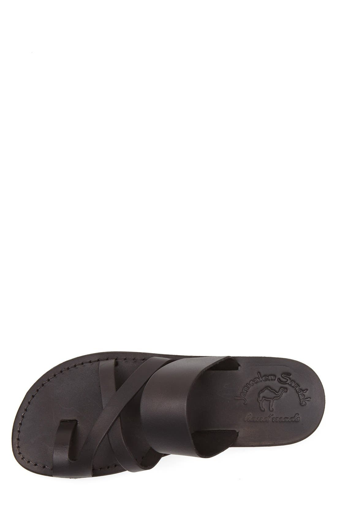 'The Good Shepherd' Leather Sandal,                             Alternate thumbnail 3, color,                             001