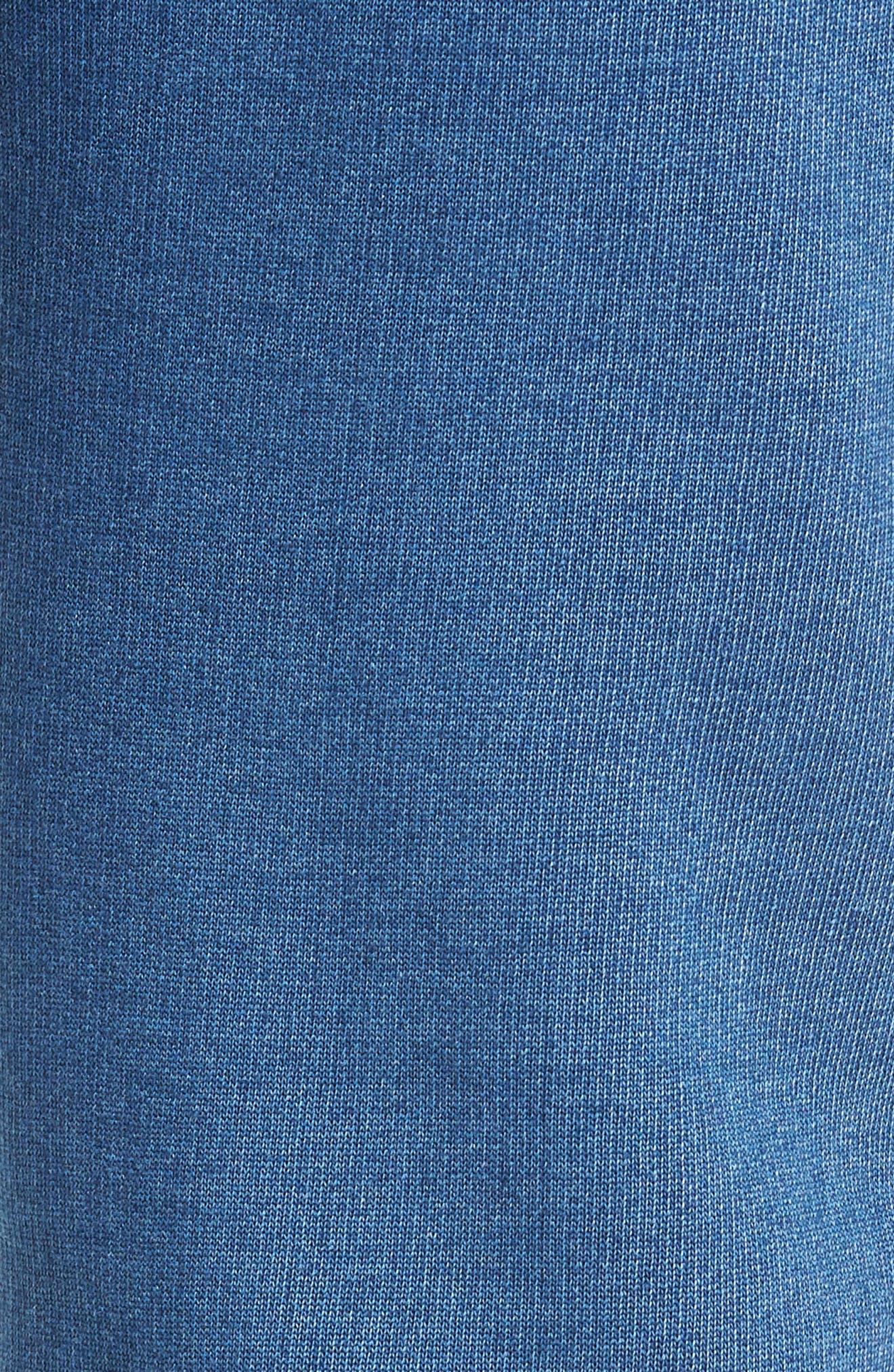 Indigo Chino Sweatpants,                             Alternate thumbnail 5, color,                             MEDIUM INDIGO