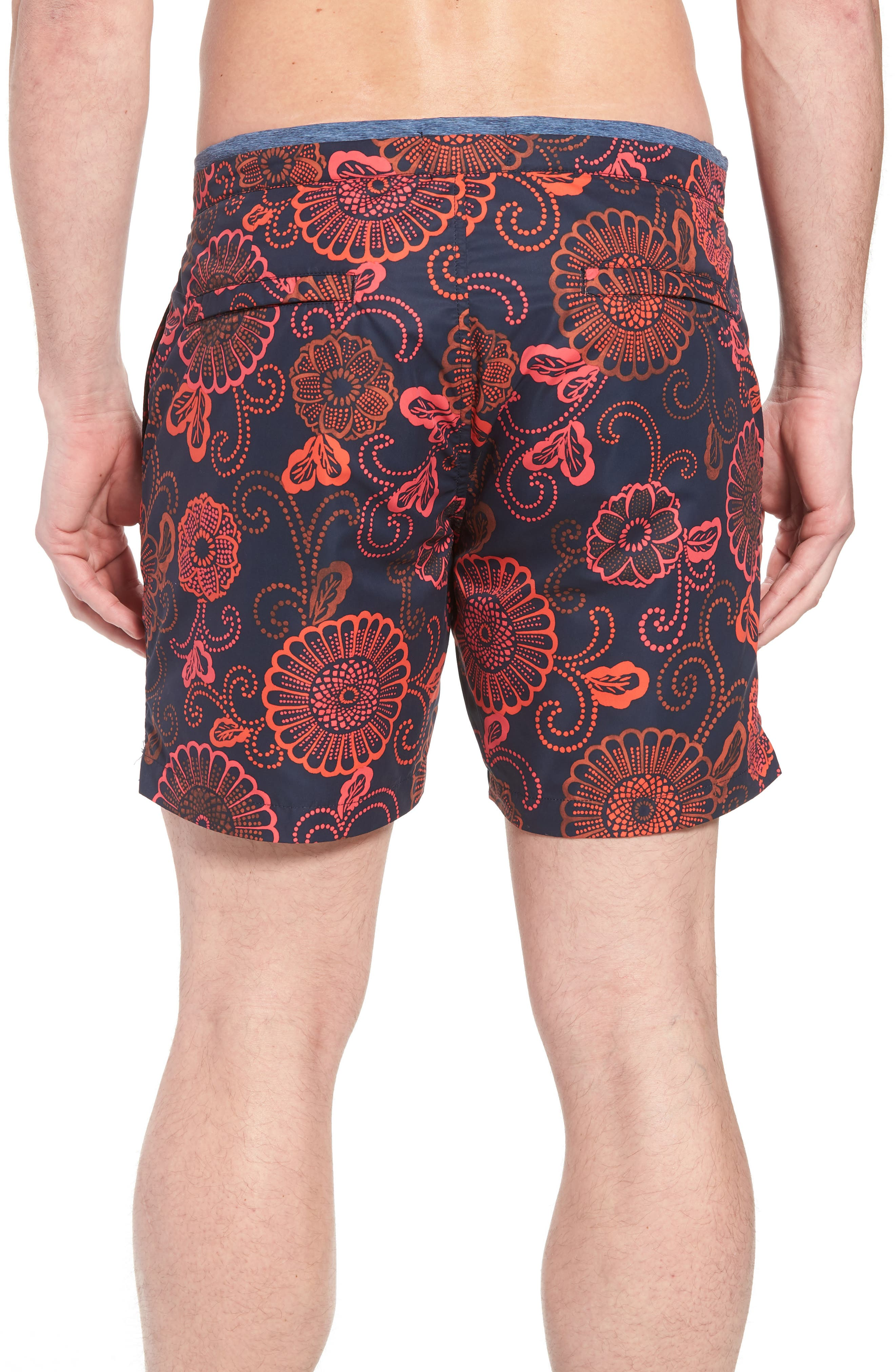 Print Mélange Board Shorts,                             Alternate thumbnail 6, color,