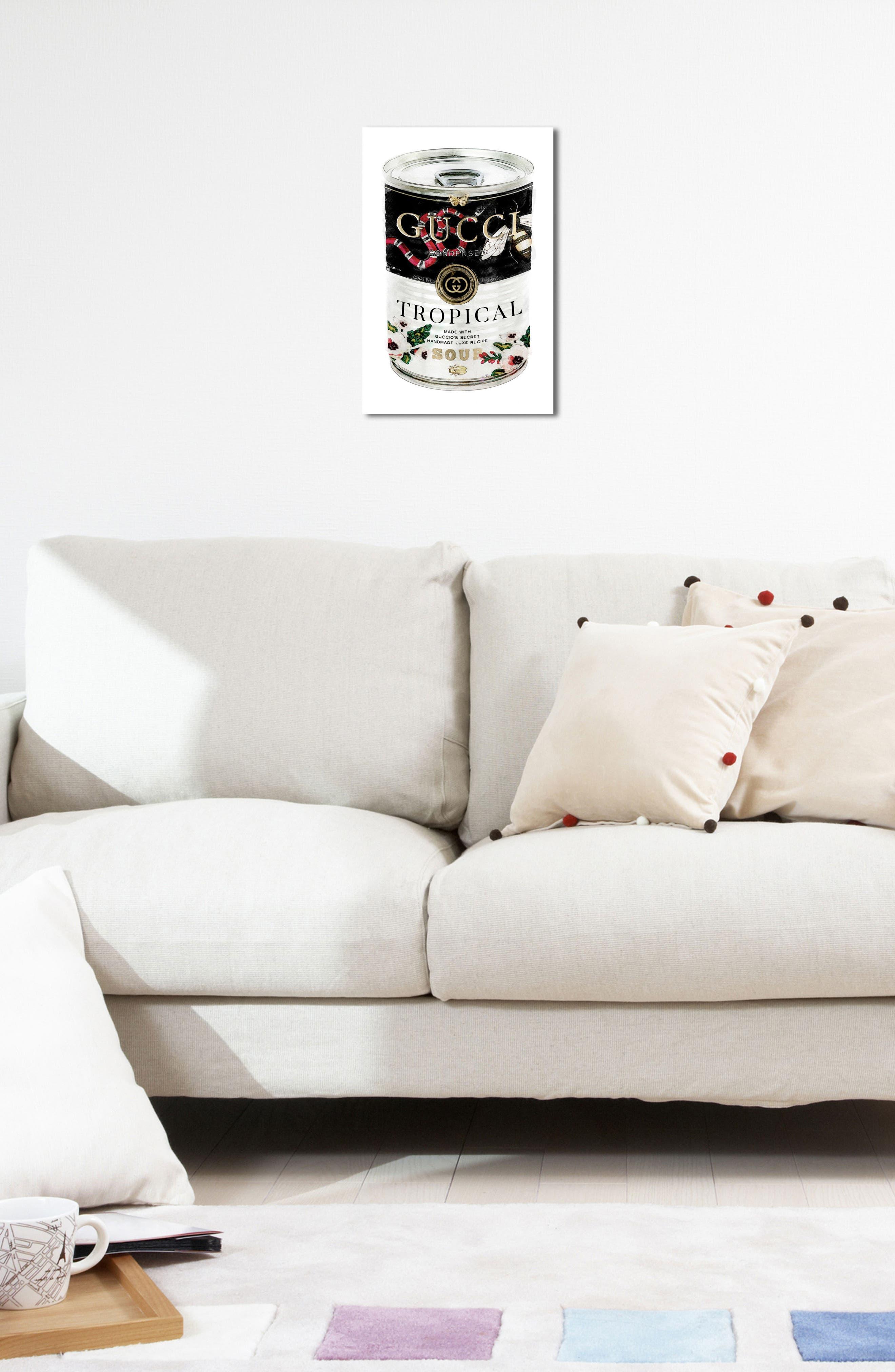 Italian Luxe Soup Canvas Wall Art,                             Alternate thumbnail 5, color,                             001