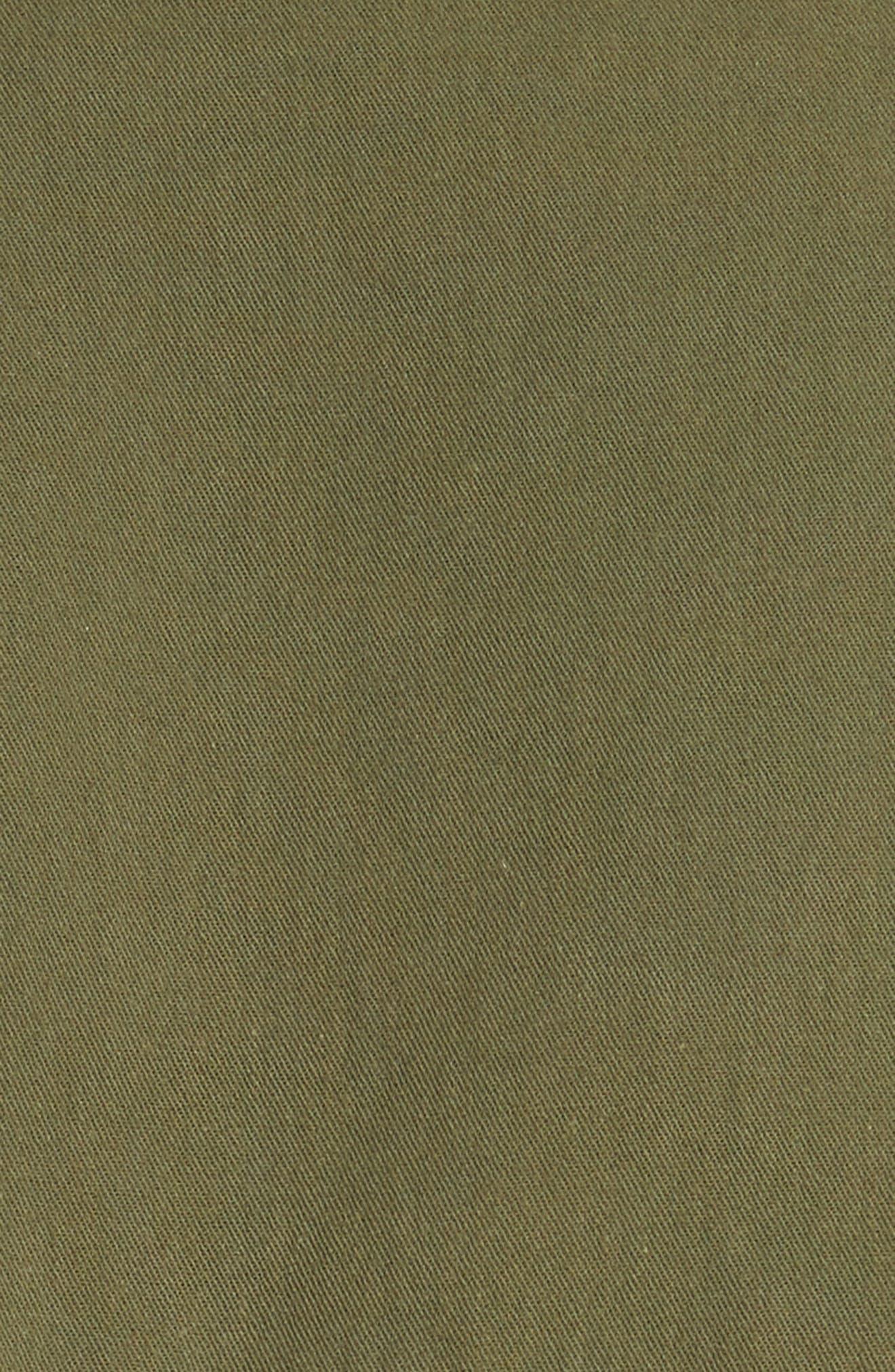VINCE,                             Drawstring Crop Cotton Jacket,                             Alternate thumbnail 6, color,                             315