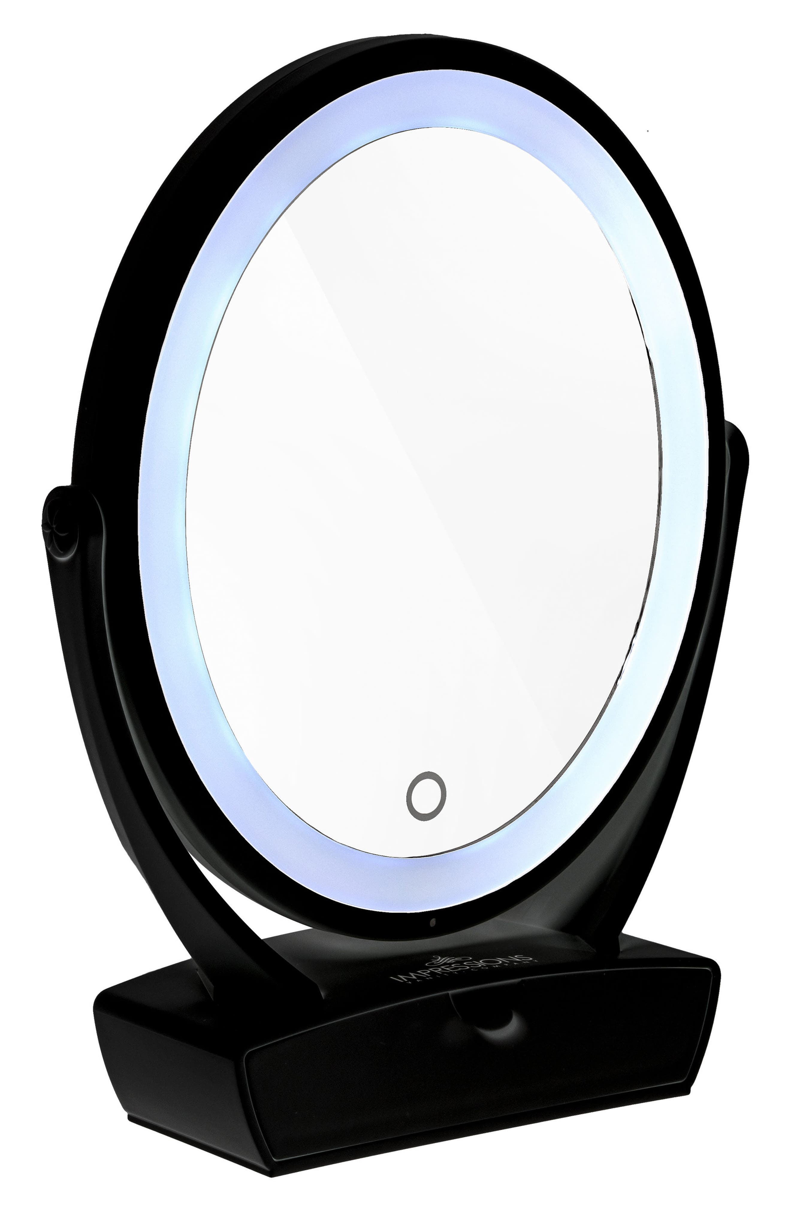 Touch Chill Rechargeable LED Dual Mirror with Drawer,                         Main,                         color,