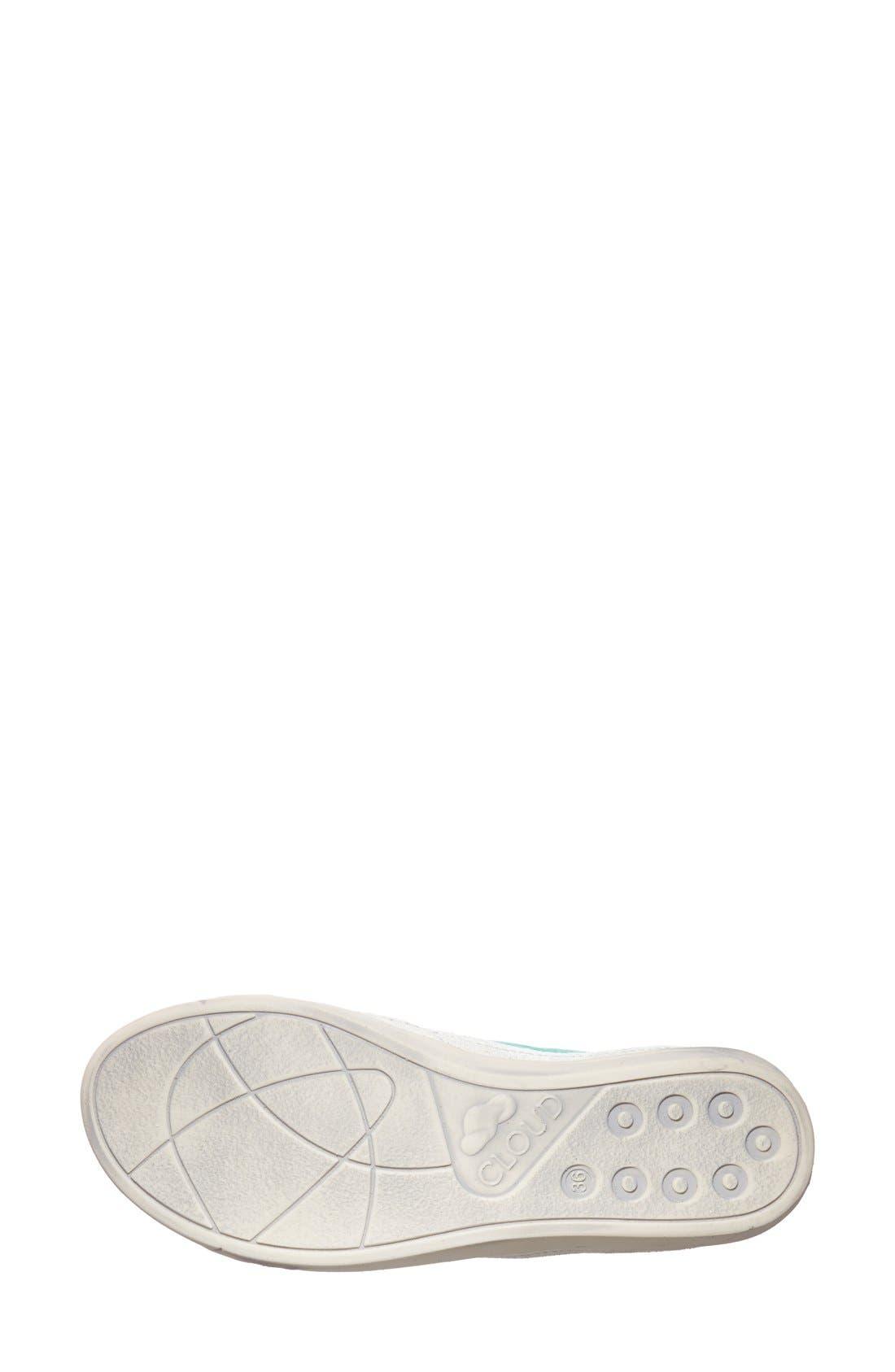 'Amazonas' Leather Sneaker,                             Alternate thumbnail 4, color,                             GREEN