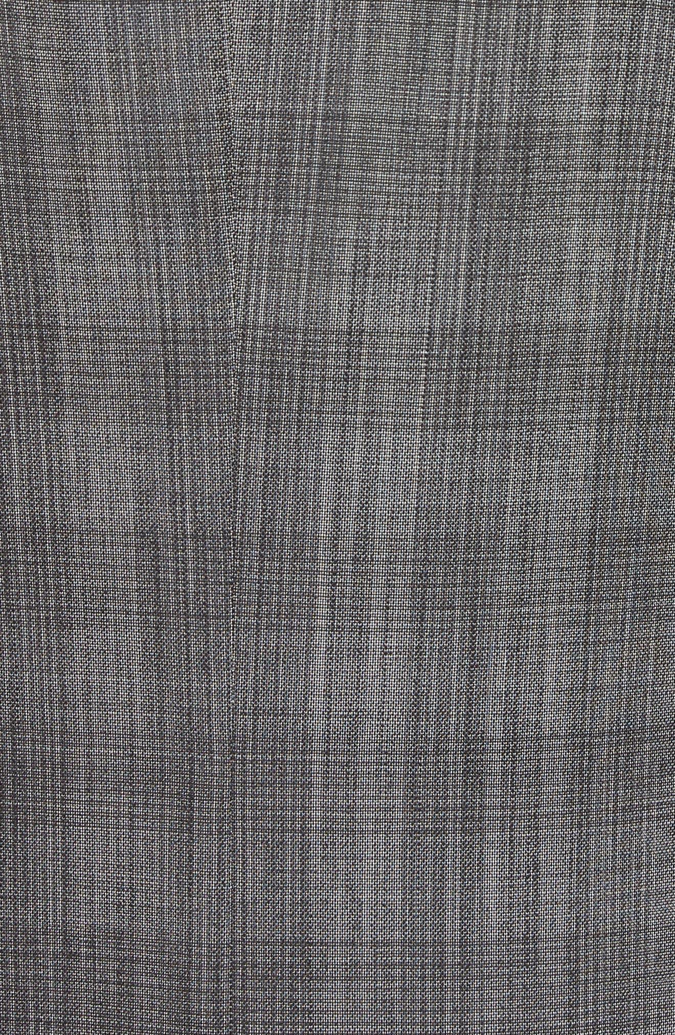 Classic Fit Plaid Wool & Silk Suit,                             Alternate thumbnail 7, color,                             026