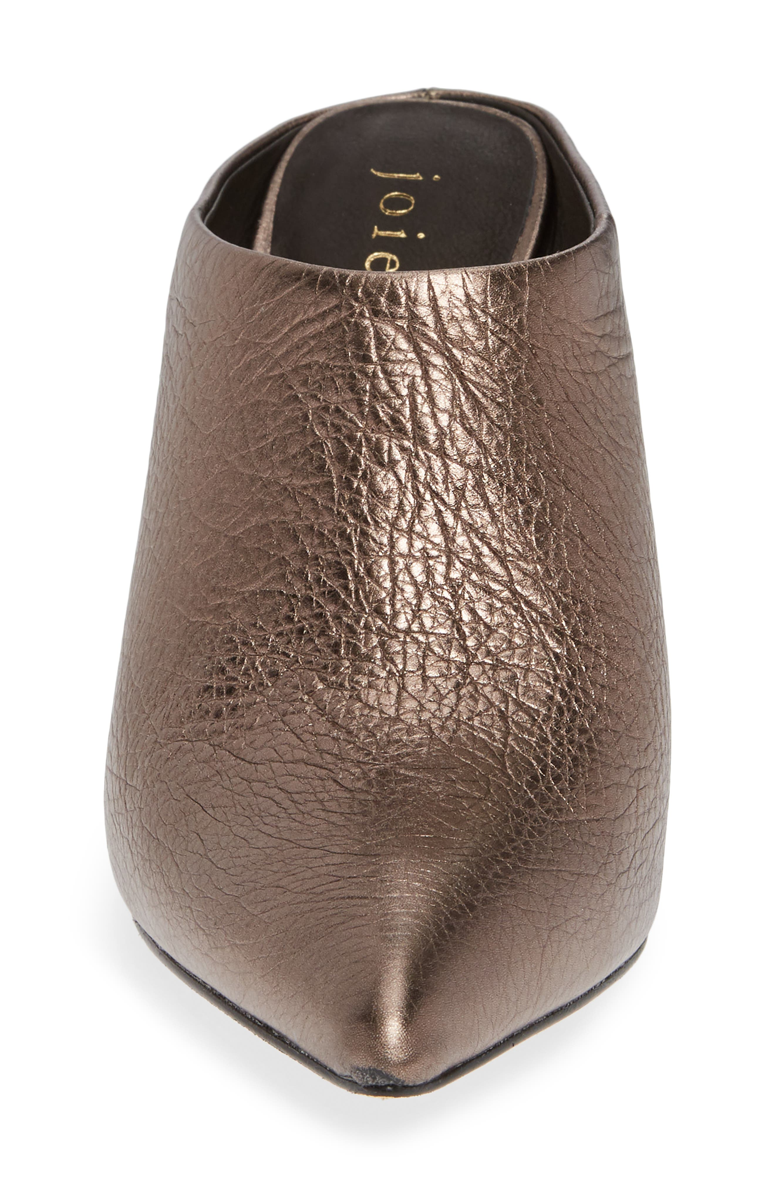 Alinie Pointy Toe Mule,                             Alternate thumbnail 4, color,                             BRONZE