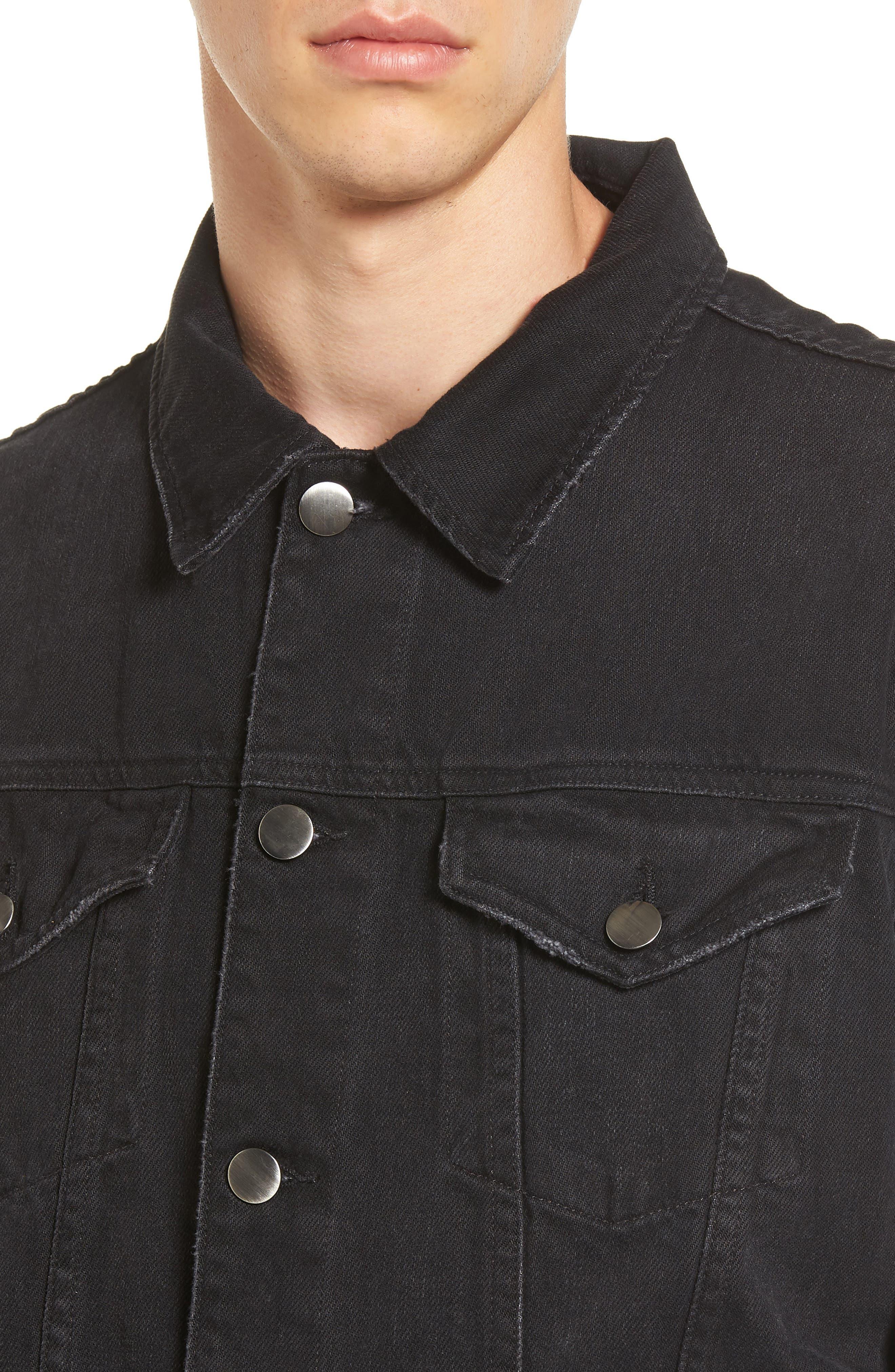 L'Homme Denim Jacket,                             Alternate thumbnail 4, color,                             001
