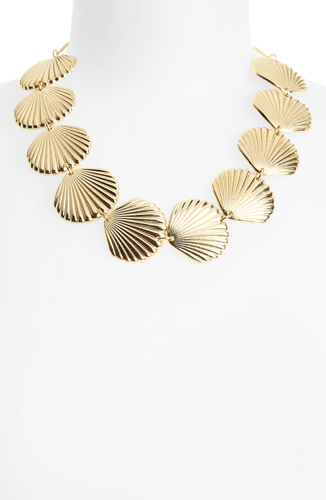 TOPSHOP Shell Collar Necklace, Main, color, 710