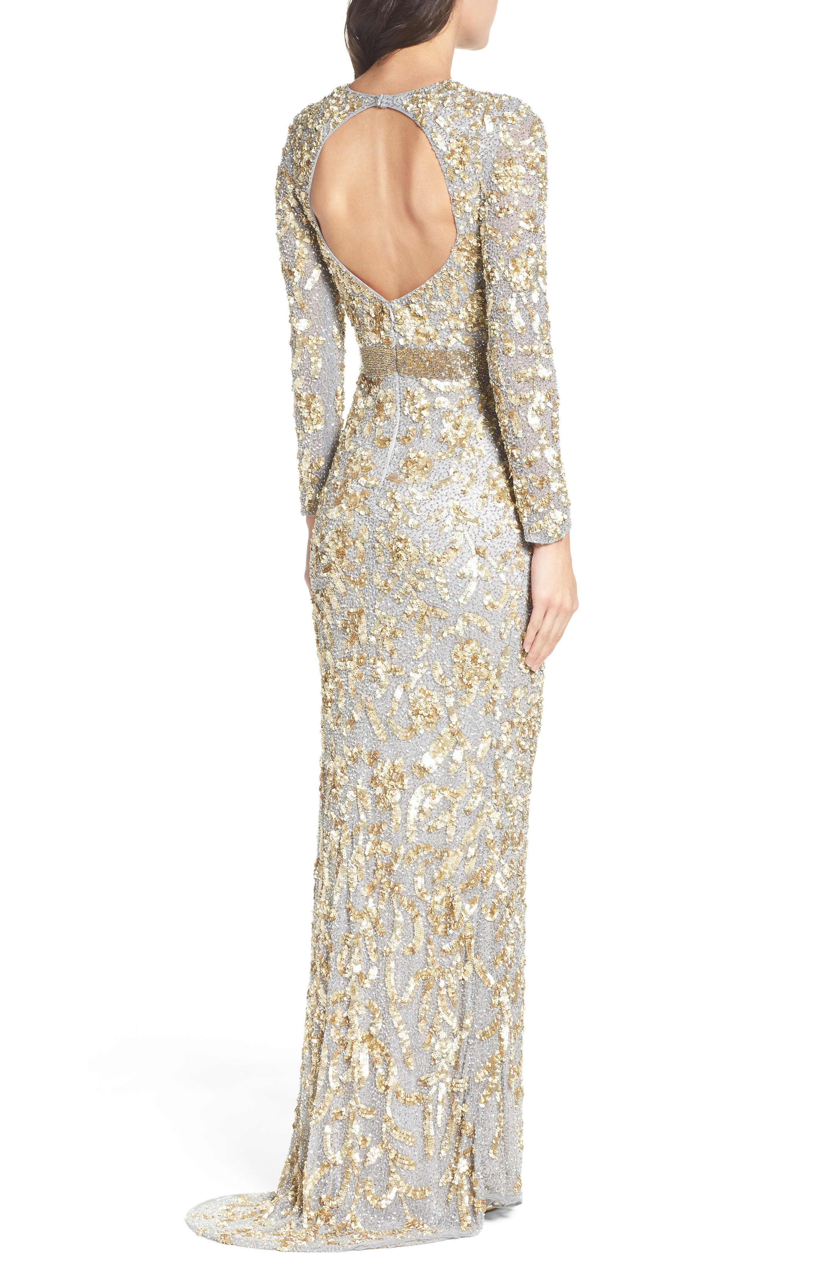Beaded Gown,                             Alternate thumbnail 4, color,