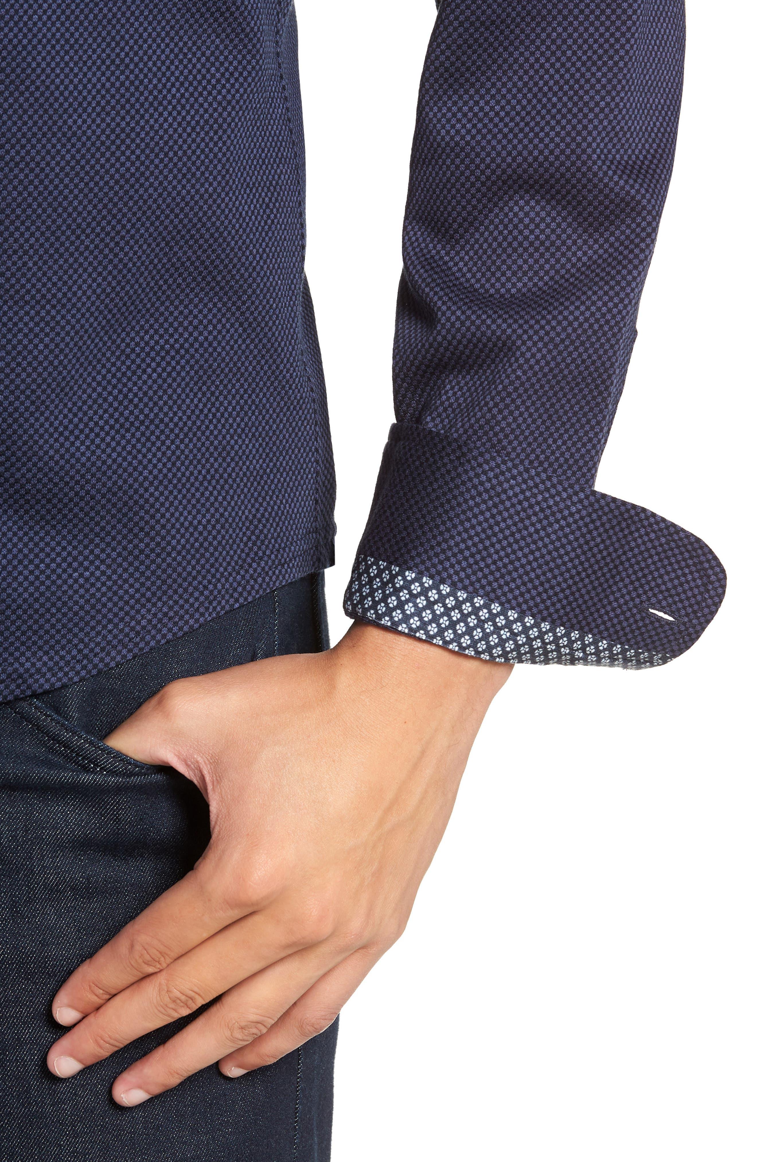 STONE ROSE,                             Trim Fit Knit Sport Shirt,                             Alternate thumbnail 2, color,                             410