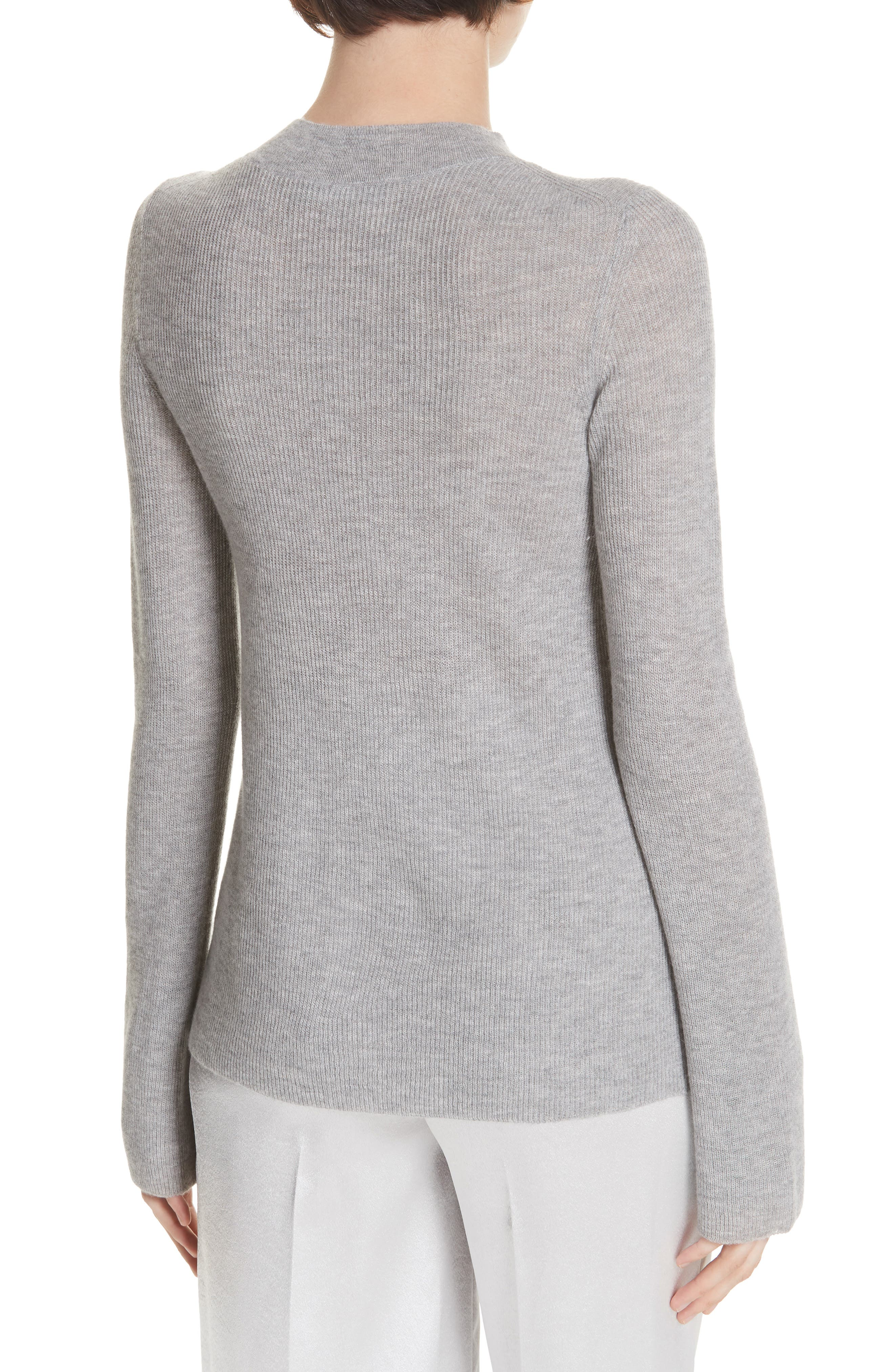 Ribbed Cashmere Sweater,                             Alternate thumbnail 2, color,                             H STEEL
